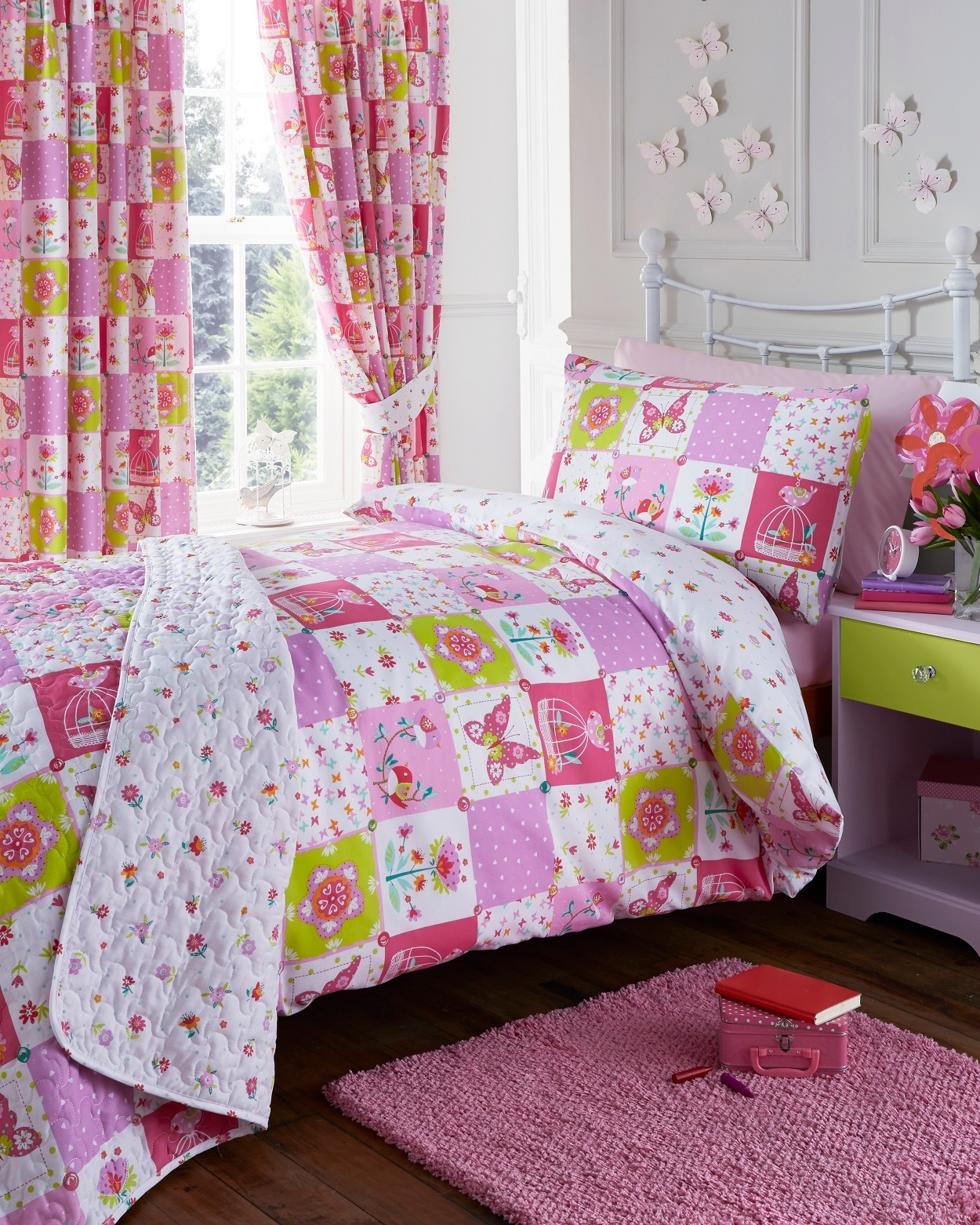 or set patchwork in alpine single cover super king double duvet red quilt cotton brushed