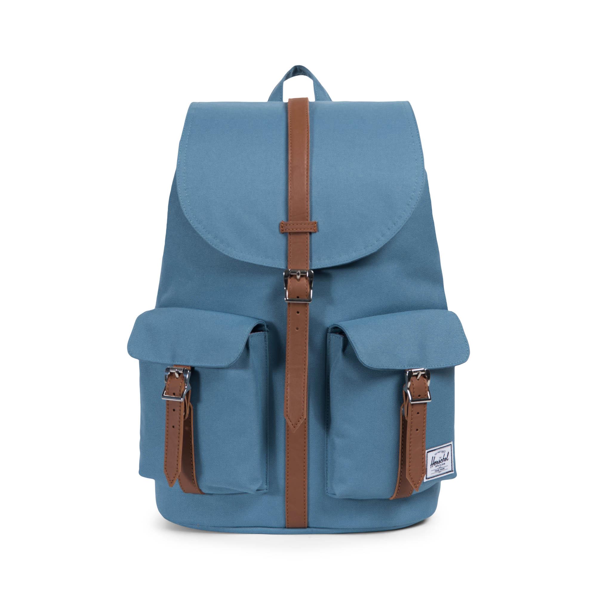 90d97eca4999 Details about Herschel Dawson 20.5 Litre Back Pack Aegean Blue Tan  Synthetic Leather