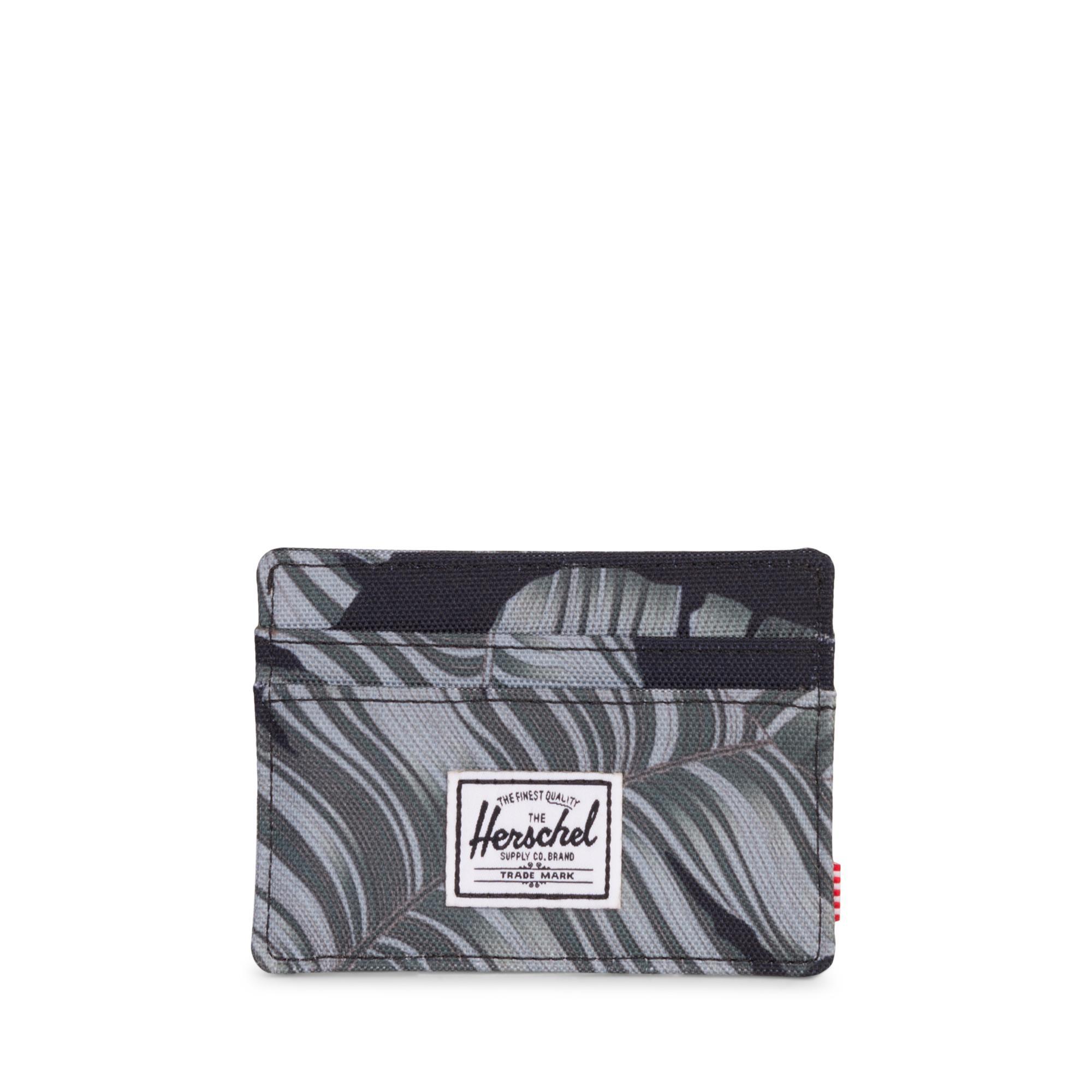 info for 7cb2f 43e5c Details about Herschel Charlie RFID Wallet Credit Card Case Black Palm