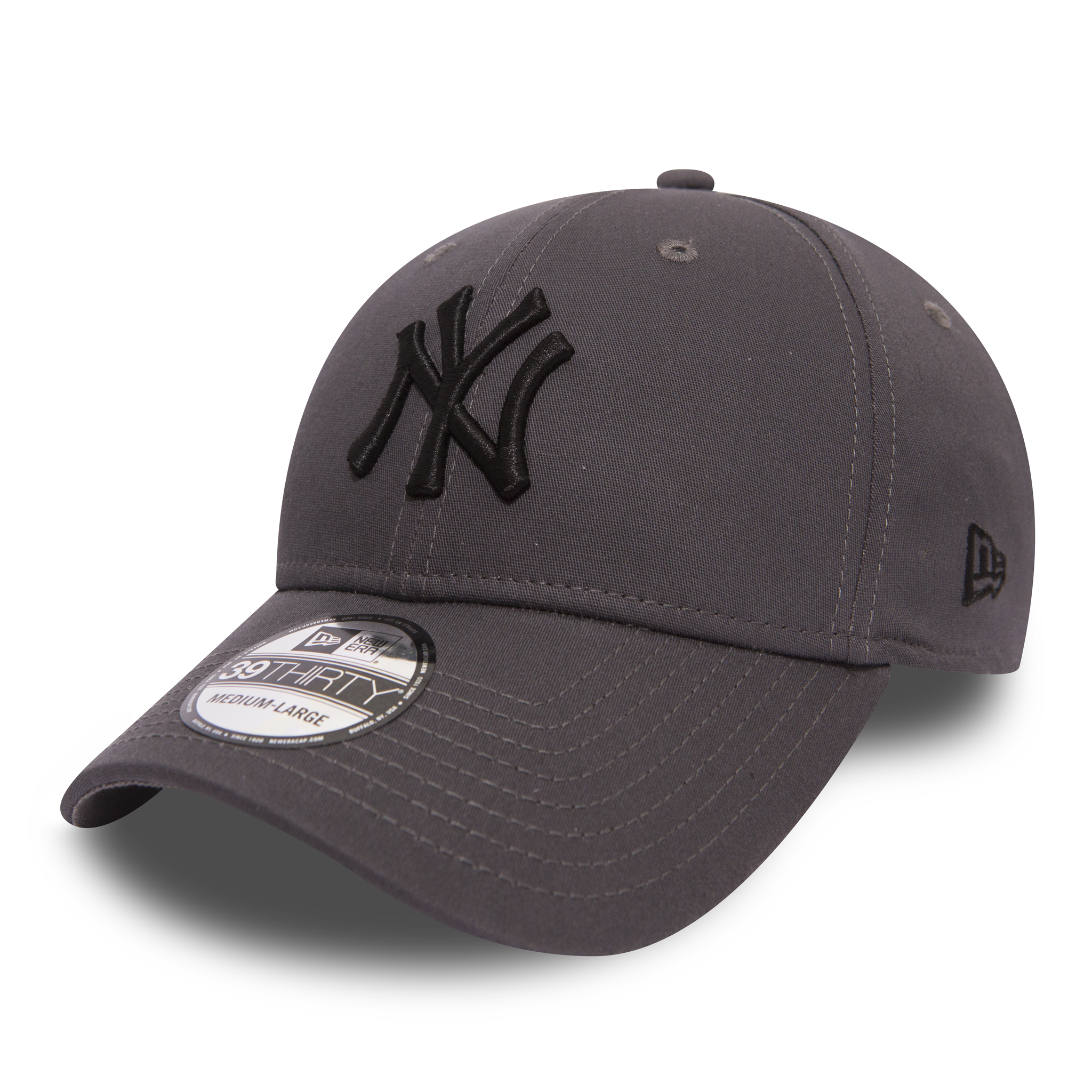 bee74c871b5 Details about New Era MLB League Essential 3930 NY Yankees Cap Graphite  Black