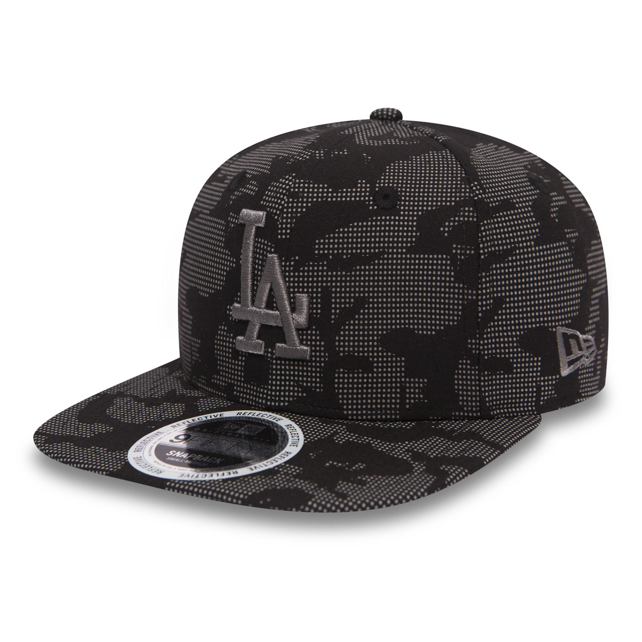 f3a418d73 Details about New Era MLB Night Time Reflective 950 LA Dodgers Snapback Cap  Black