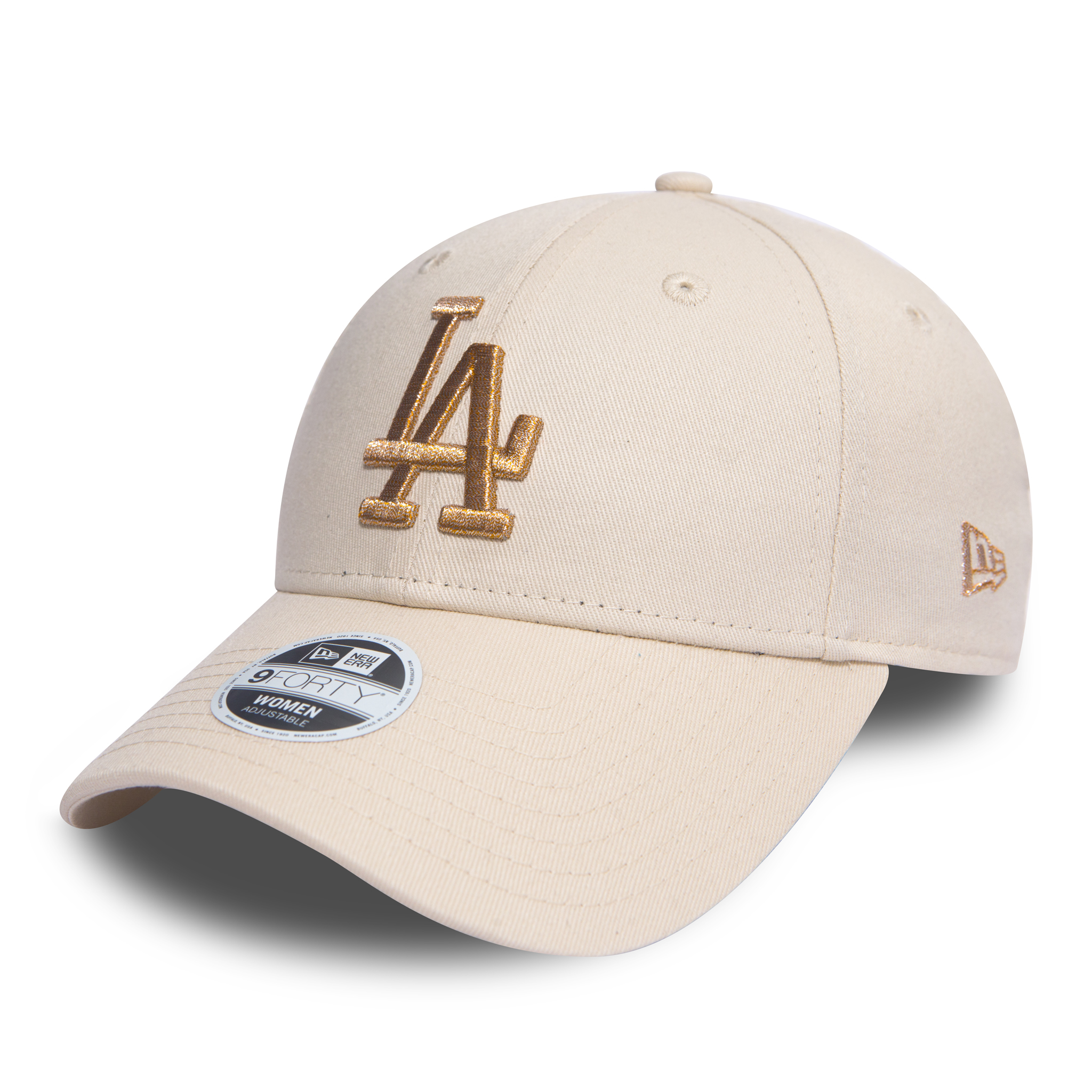 db2bec7b118 Details about New Era MLB Womens Essential 940 LA Dodgers Stone Gold One  Size Fits All
