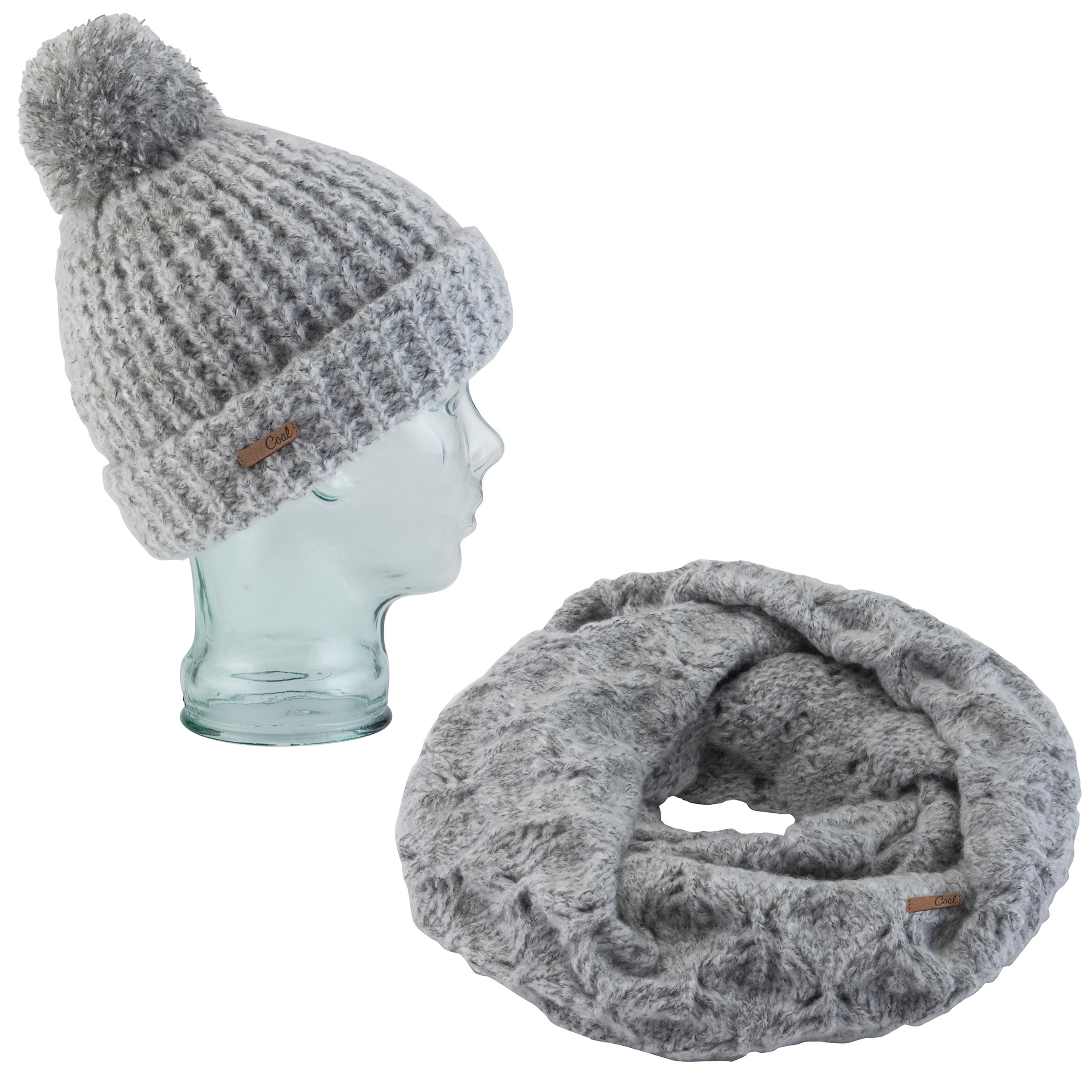 Details about Coal Kate Beanie Waffle Knit And Coal The Madison Scarf  Eternity Heather Grey 54a02618a8b1