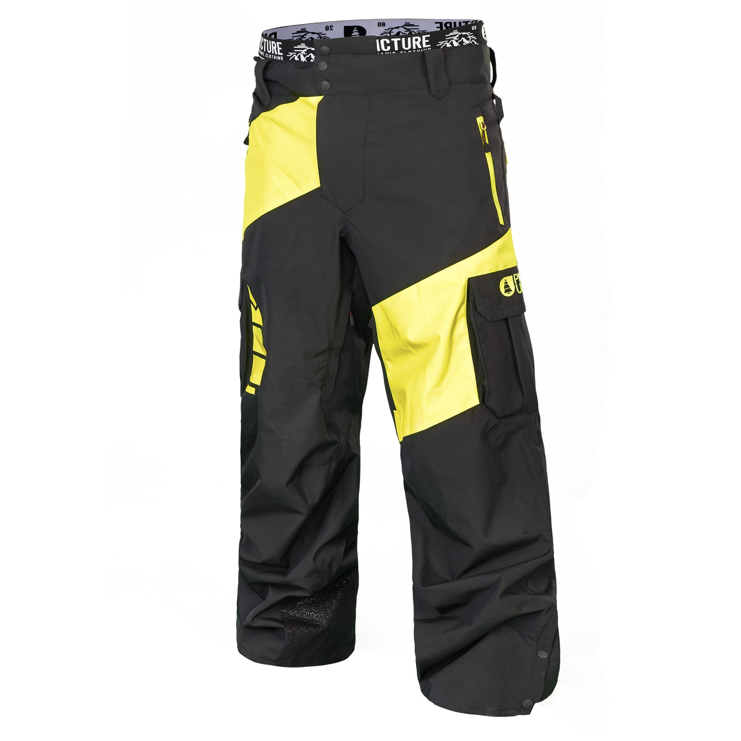 Picture Mens Alpin Ski Snow Pant MPT075 Fluo Yellow Medium