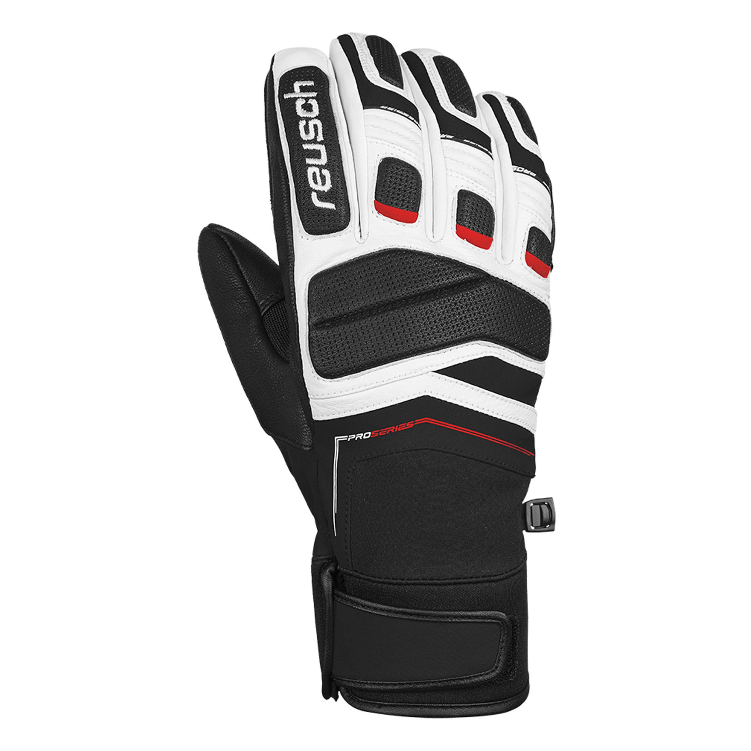 Reusch Profi Sl Black Snow Ski Glove Black White Fire Red Ebay