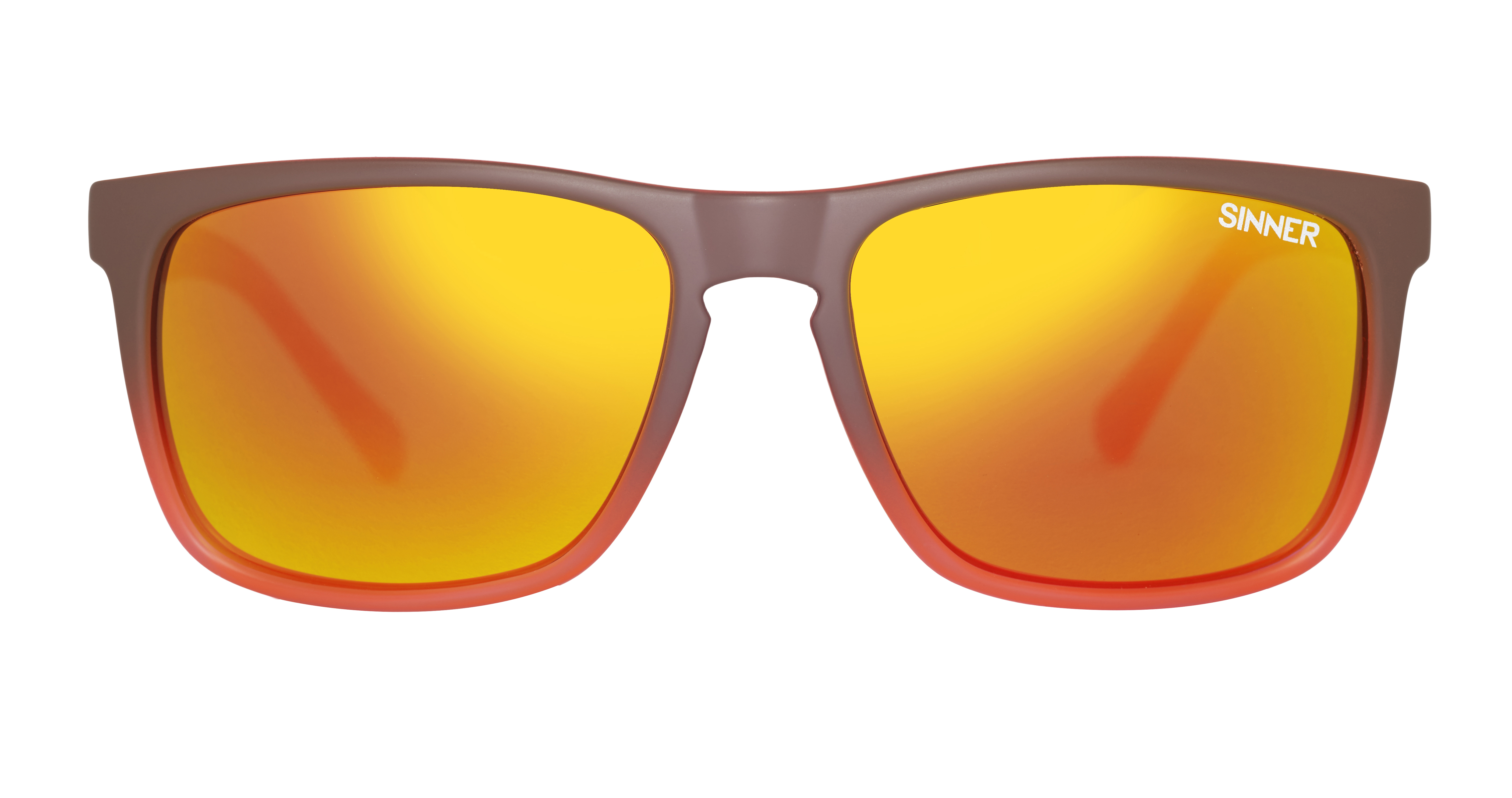 170a56aefe5 Sinner Oak Matte Brown Orange CX Sintec Brown Orange Mirror Polarized  Sunglasses - Hyped Sports