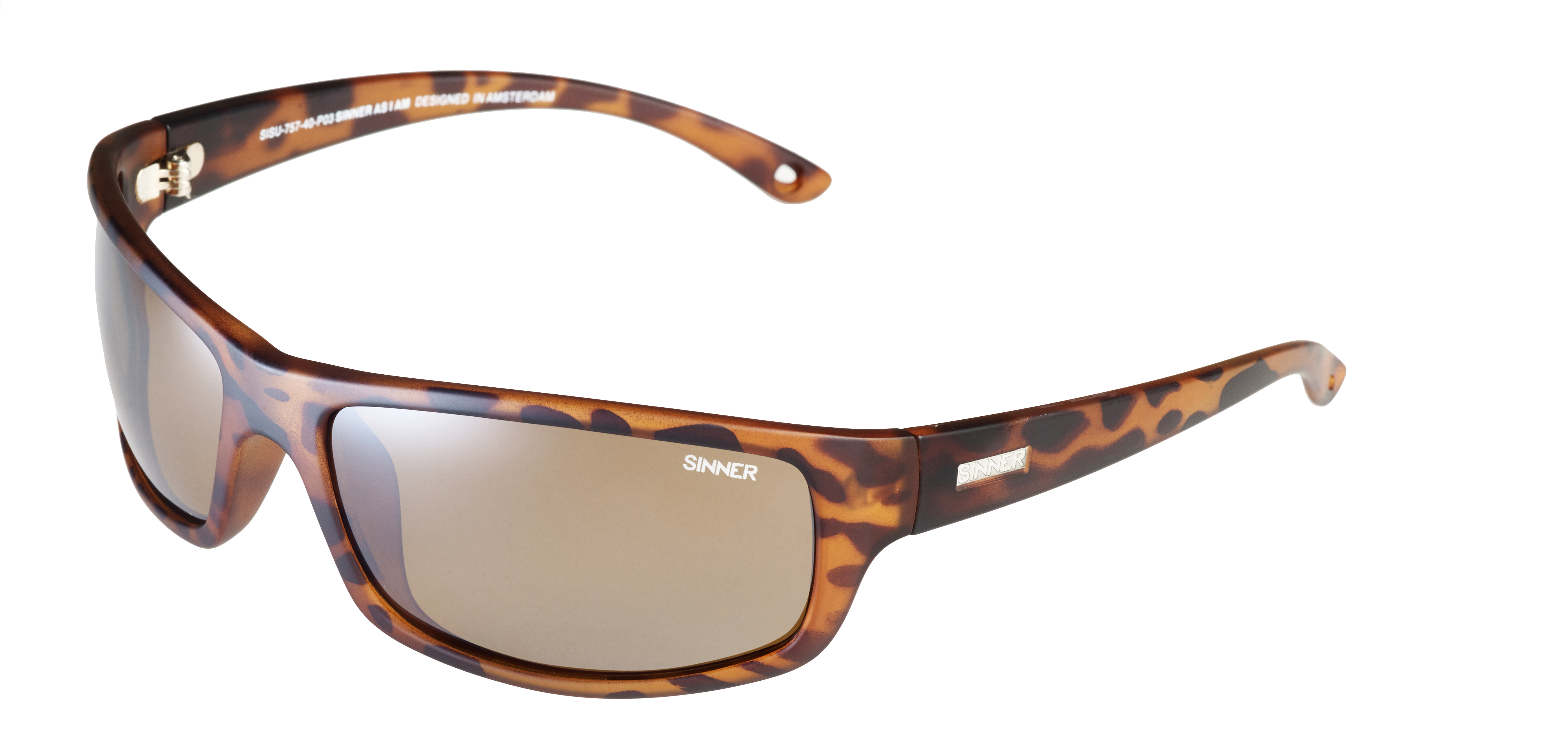ddf1bdbed51 Sinner Monarch Matte Tortoise Sintec Brown FL Mirror Polarized Wrap  Sunglasses - Hyped Sports