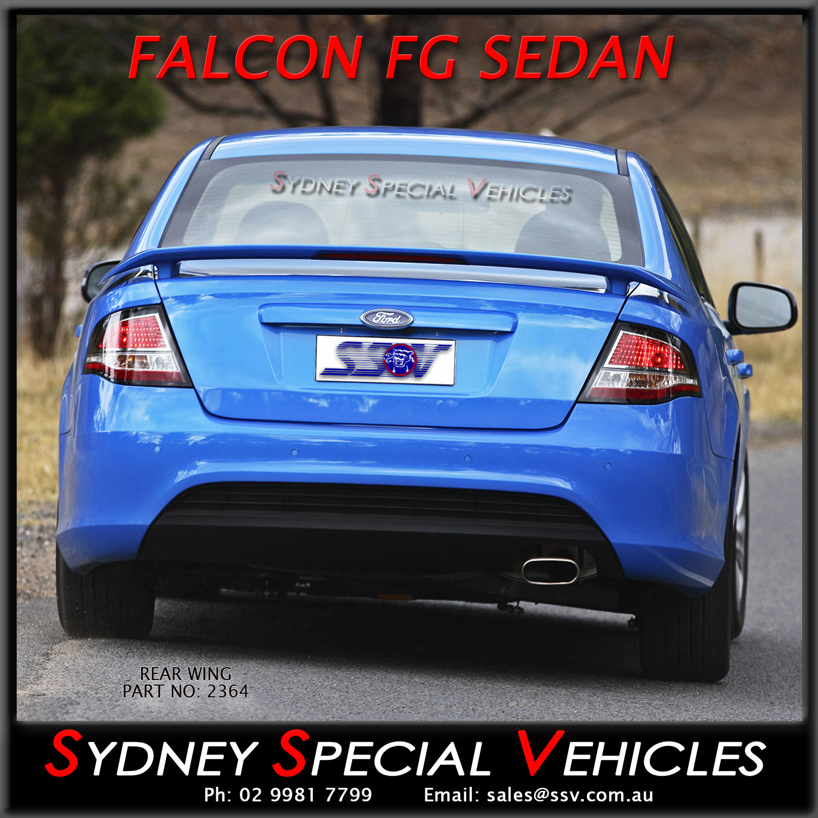 New Xr6 Xr8 Rear Wing Boot Spoiler For Fg Amp Fgx Falcon