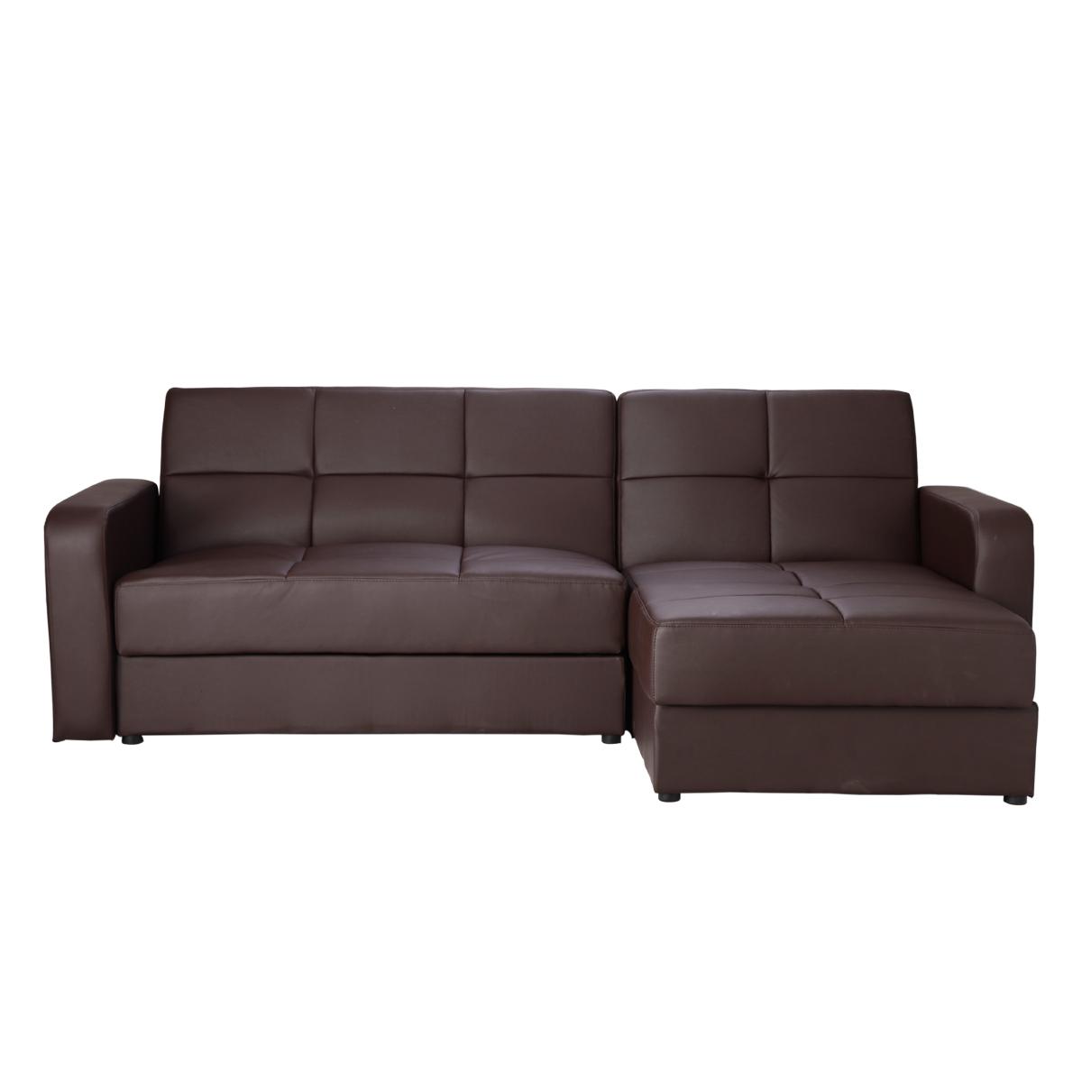 Black Leather Corner Sofa Ebay: Brand New Leather Corner Sofa Bed