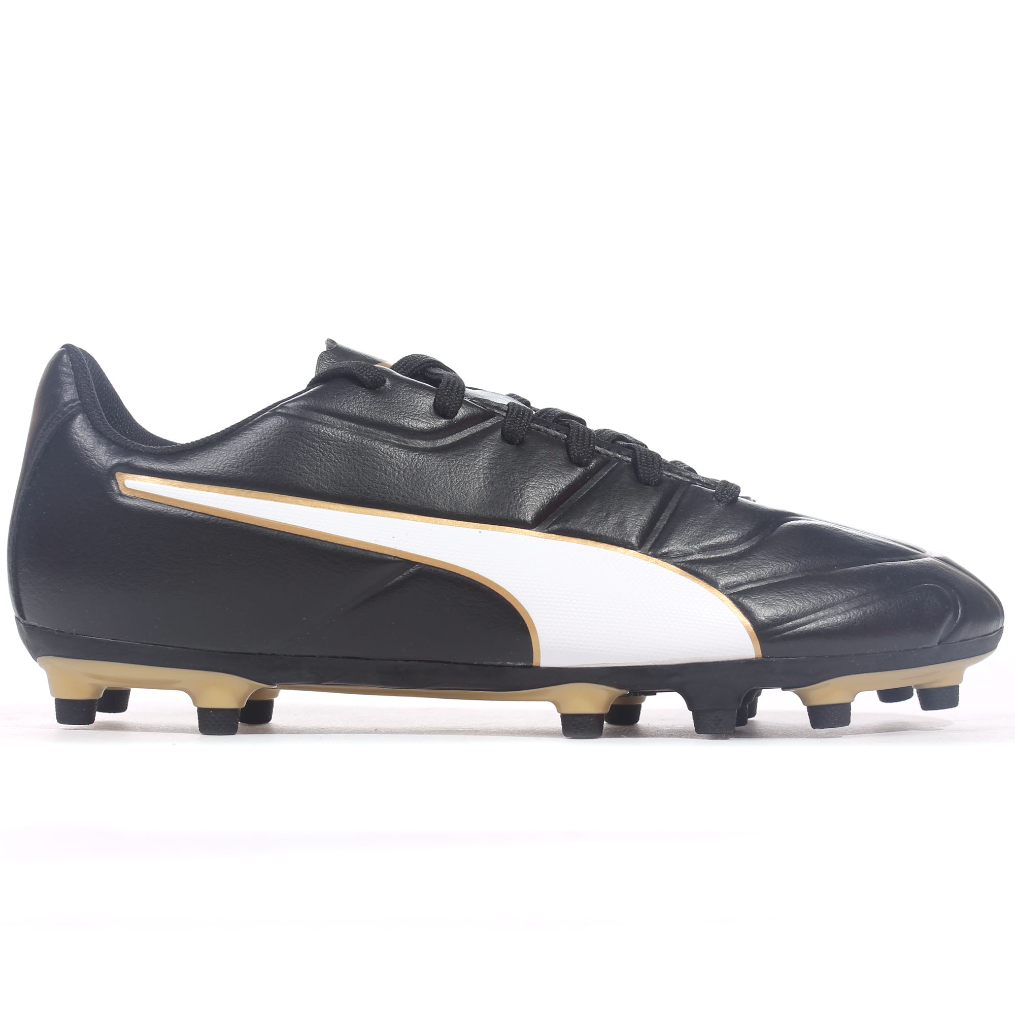 104d137f70f Details about Puma Classico C II FG Firm Ground Mens Football Boot Shoe  Black/Gold