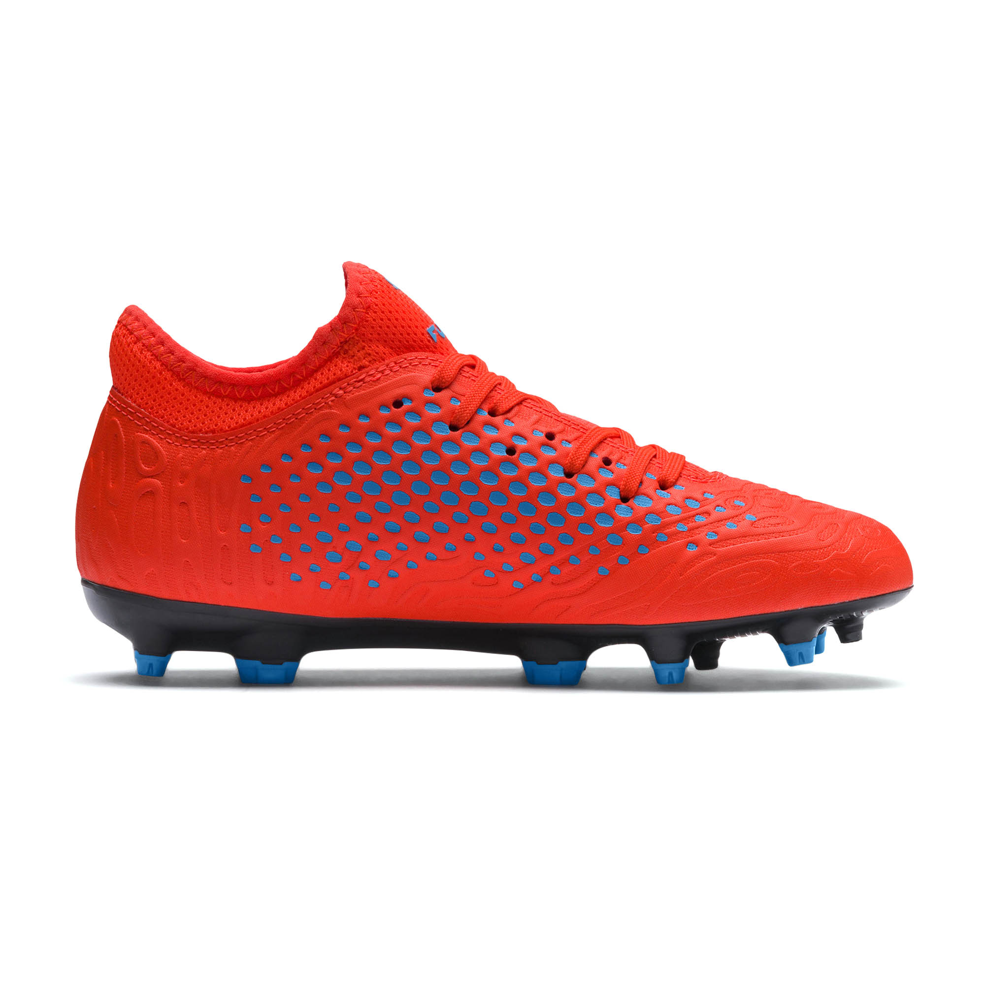 e3db178ee098 Puma Future 2.4 FG AG Firm Ground Kids Football Boot Power Up Red Blue