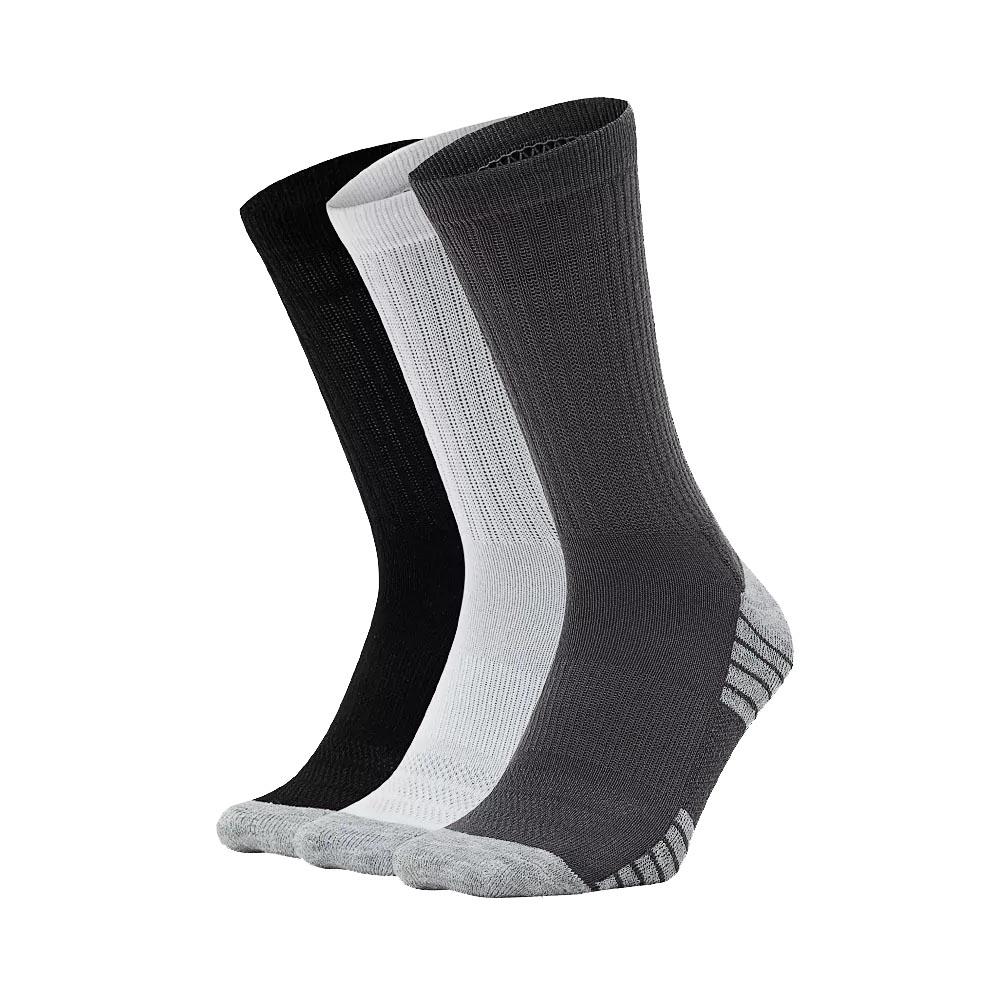 Fitness, Running & Yoga Reebok Performance Crew Cushioned Sport Socks 3 Pack Sporting Goods
