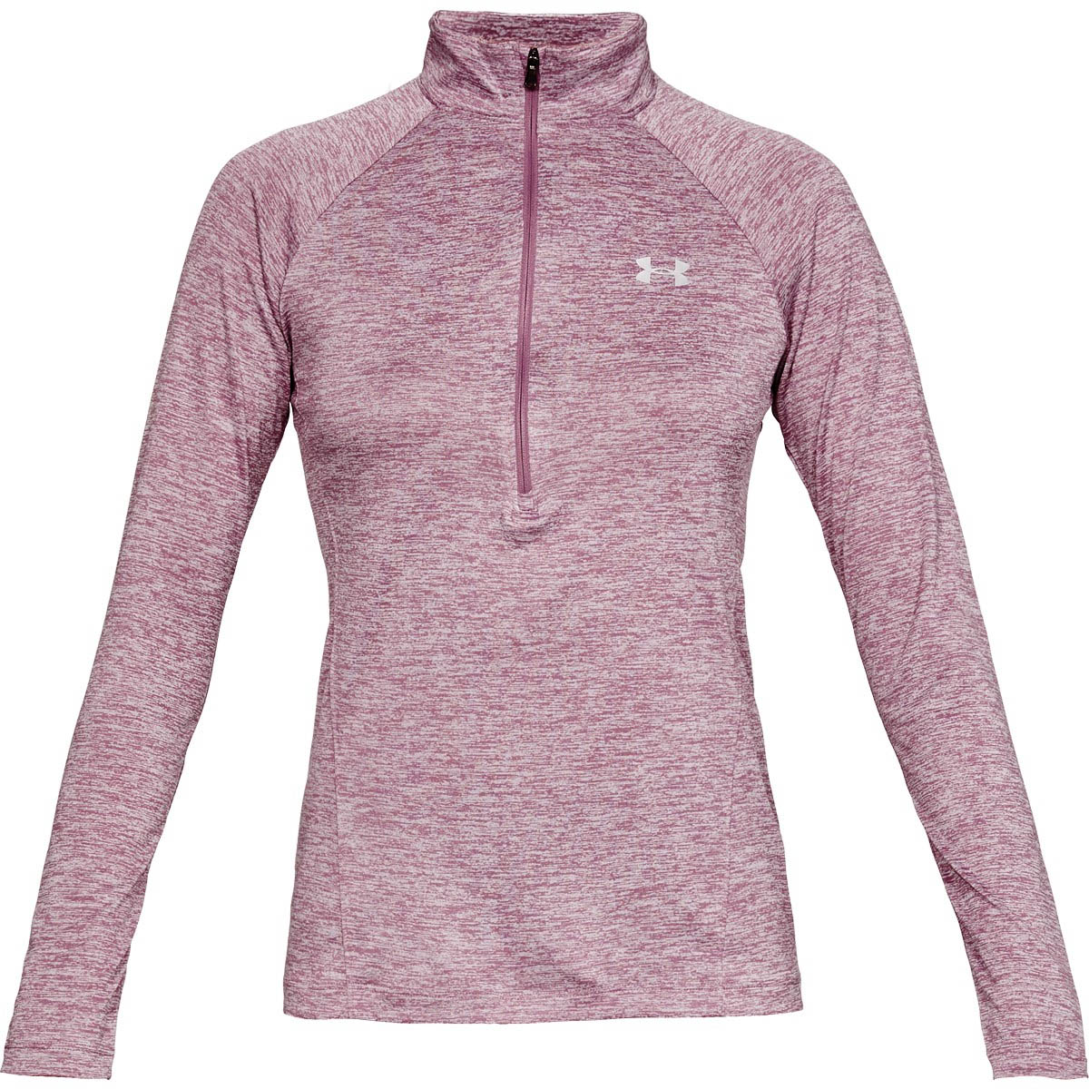 7f38b56e Details about Under Armour Tech Twist 1/2 Zip Womens Fitness Training Top  Purple
