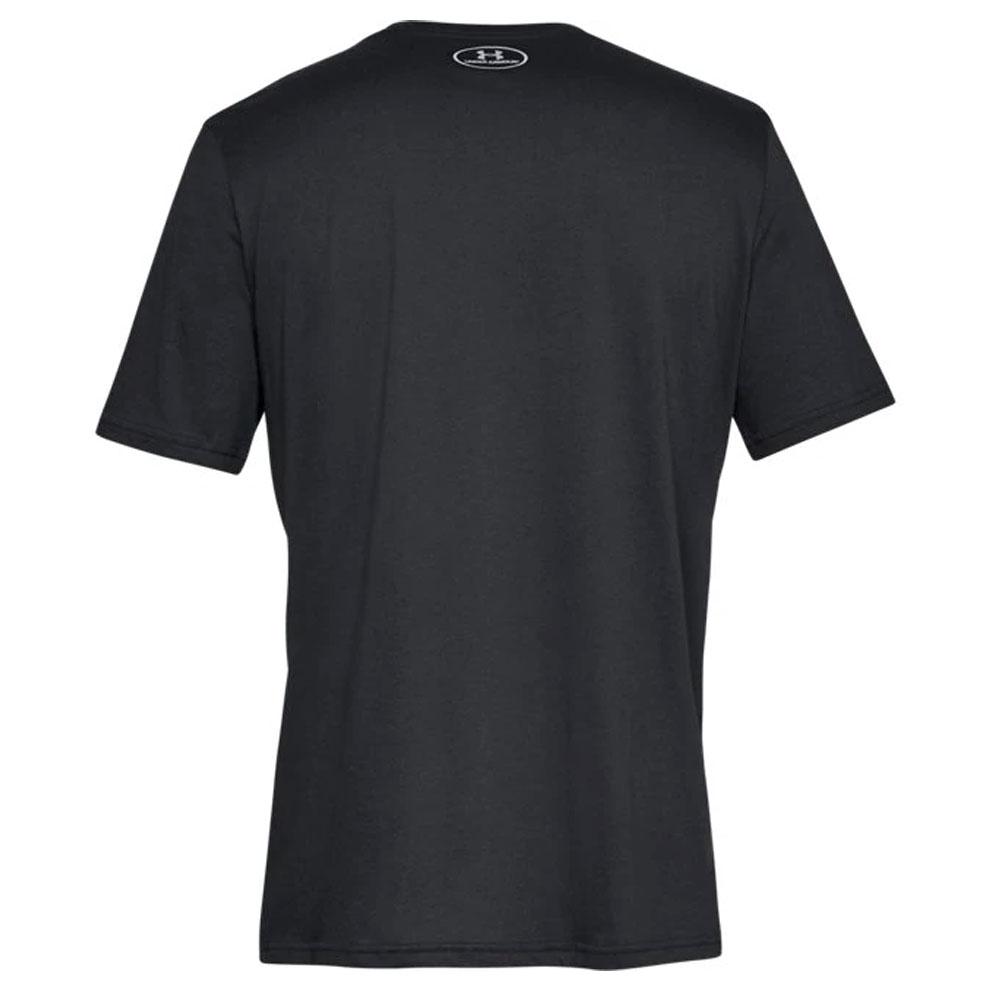 Detalles de Under Armour Hombre Sportstyle Izquierdo Logo Pecho Algodón Camiseta Negro