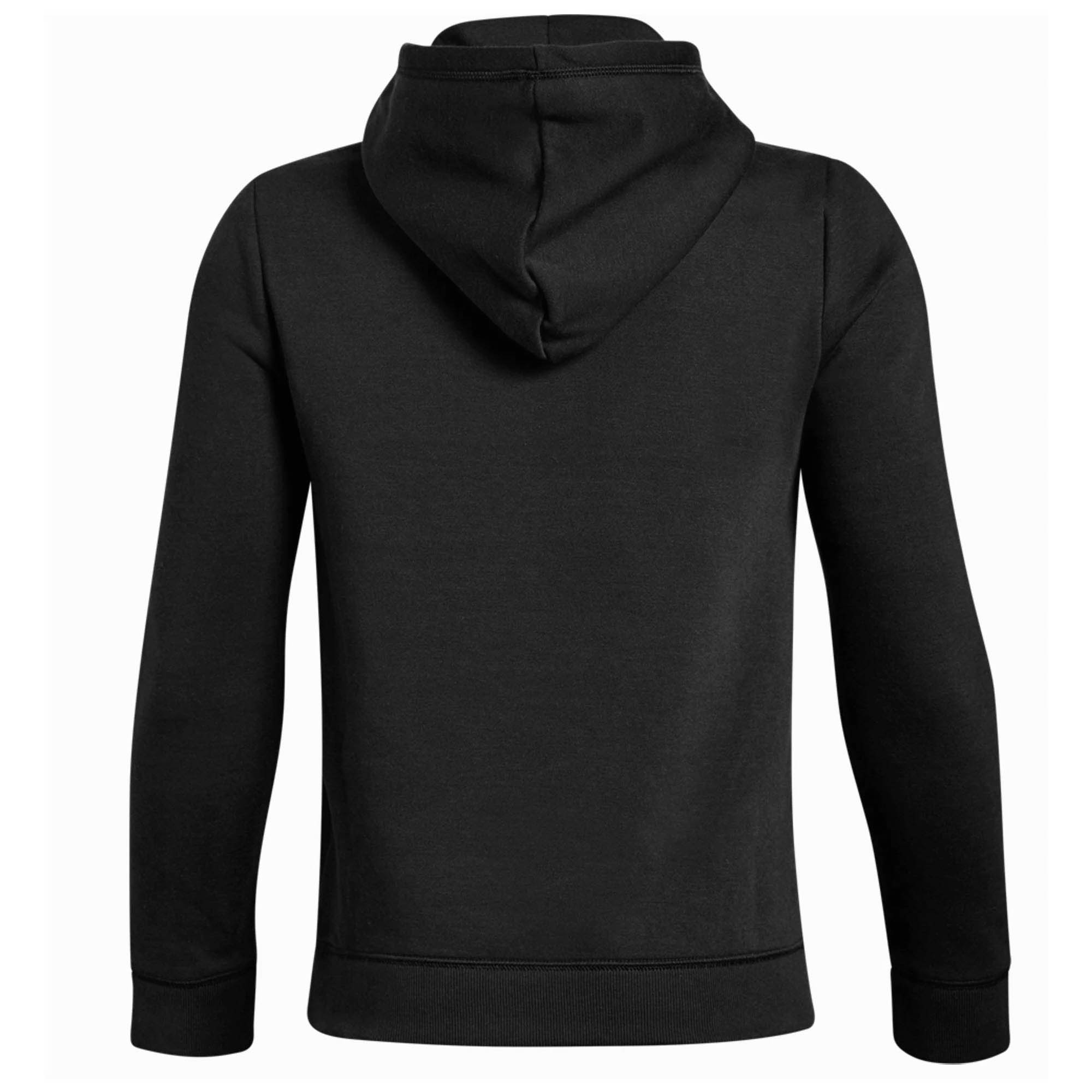 c5e2f2513eba Details about Under Armour Cotton Fleece Over Head Kids Hoodie Hoody Jacket  Black