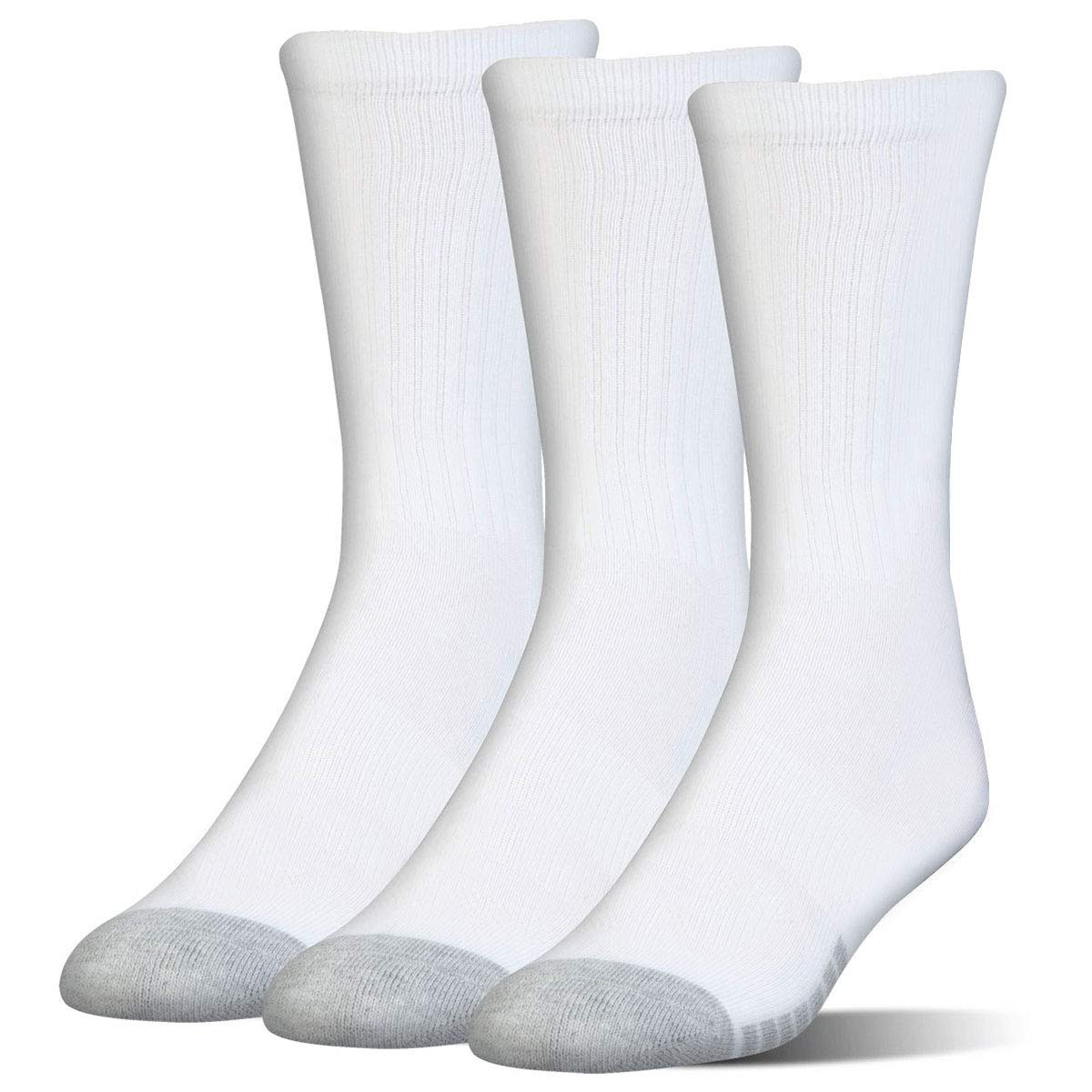 White New Under Armour 3-Pack Elevated Performance Crew Socks Size M UK 3-7.5