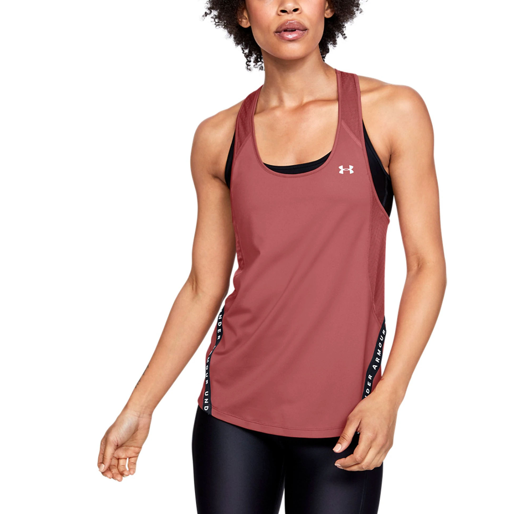 Under-Armour-Mot-Symbole-ruban-Pour-Femme-Femmes-Fitness-Training-Vest-Tank-Rose miniature 7