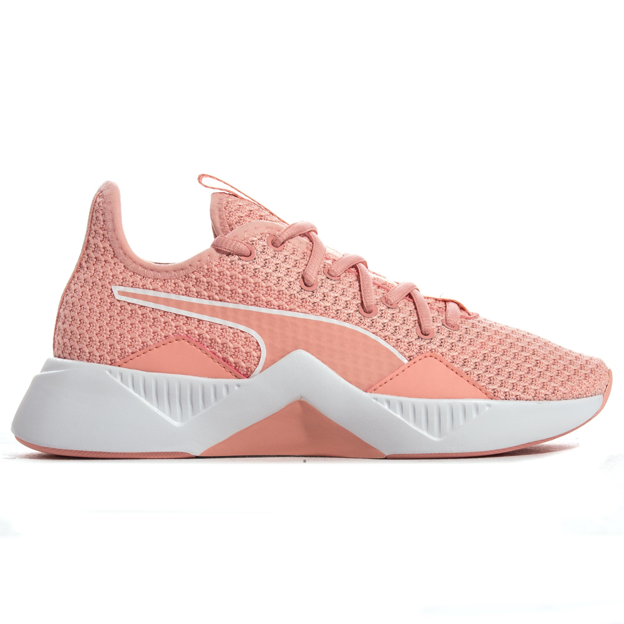 a38e9b4a92 Details about Puma Incite FS Womens Exercise Fitness Training Trainer Shoe  Peach/White
