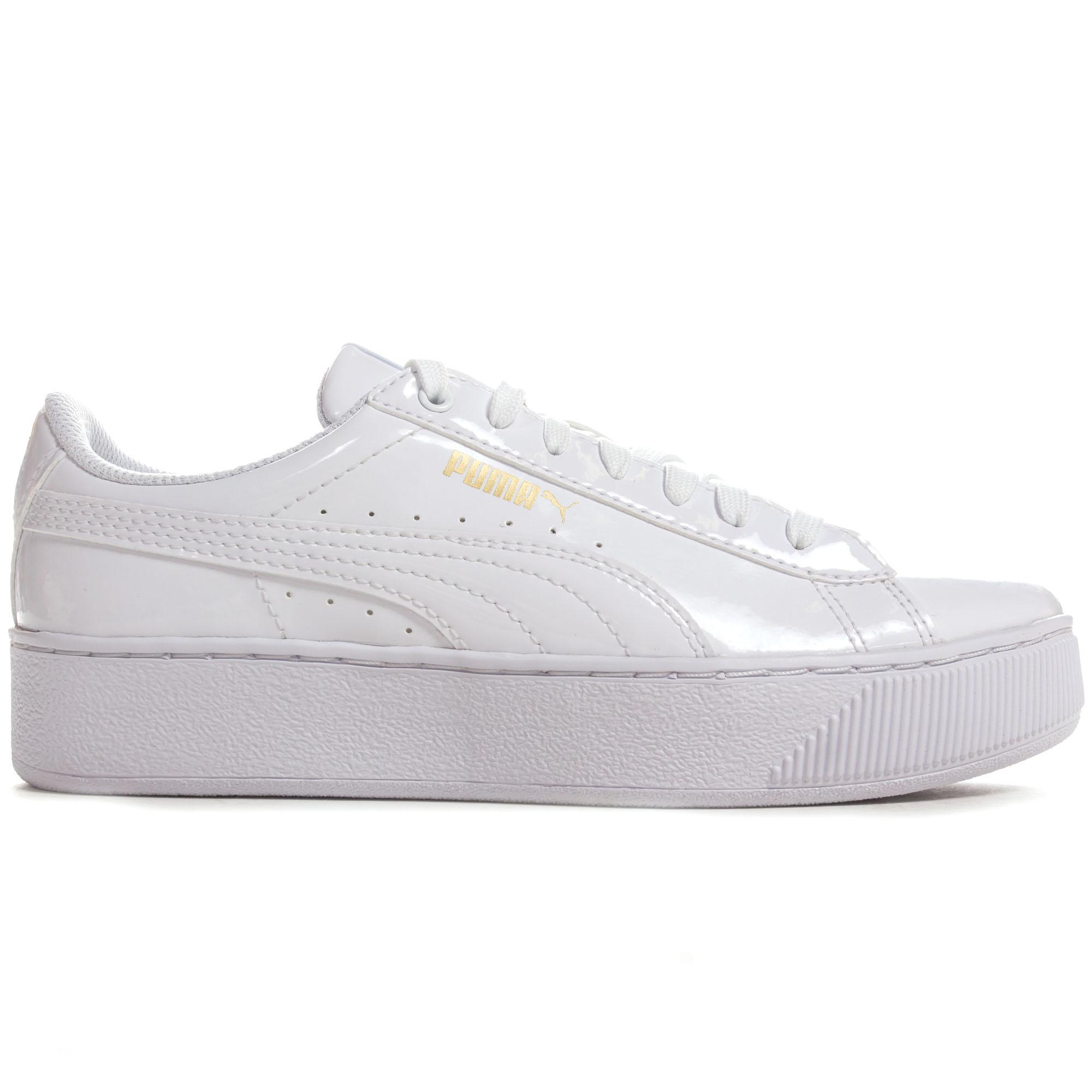 Details about Puma Vikky Patent Platform Womens Ladies Fashion Trainer Shoe  White dfd078866