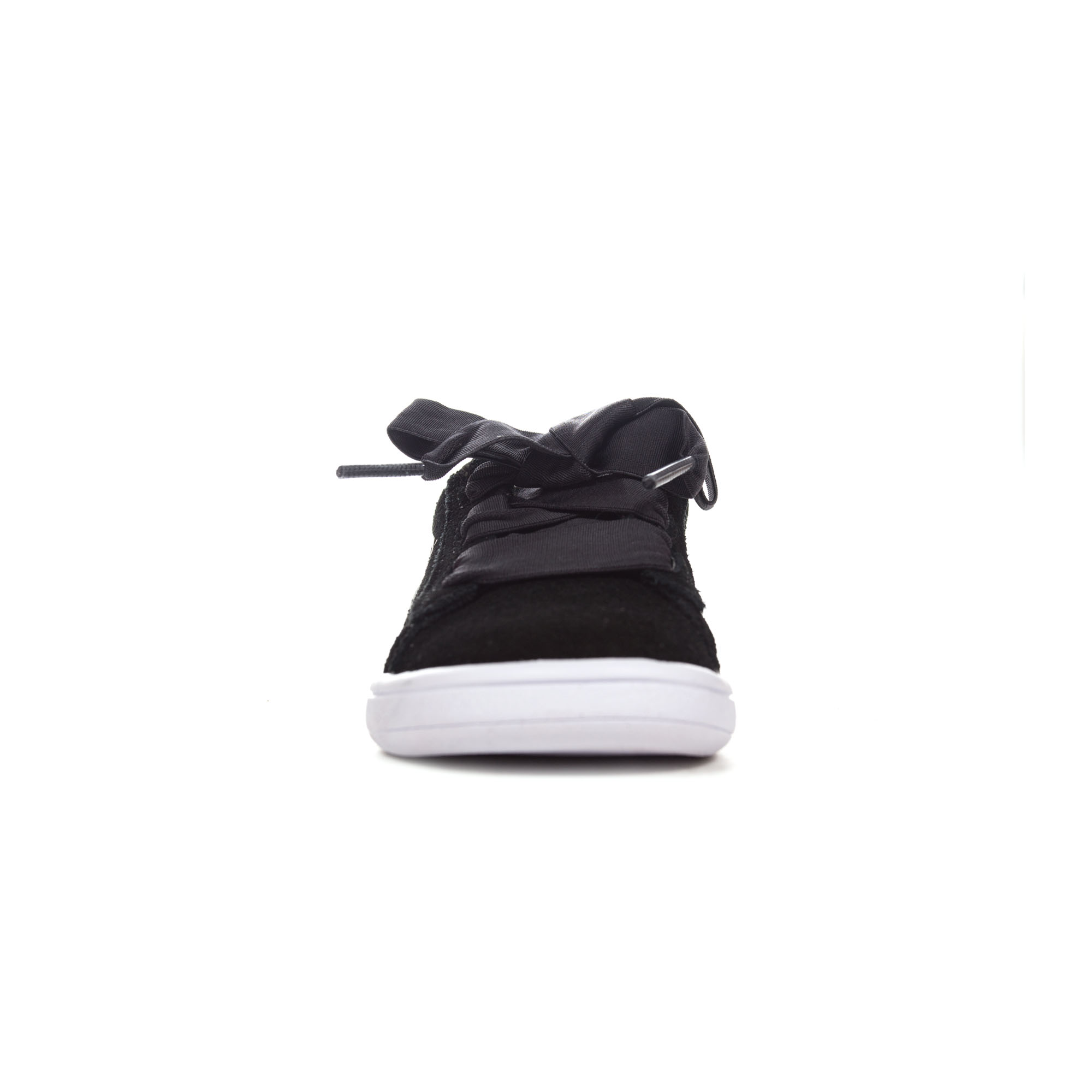 Details about Puma Smash V2 Ribbon Suede Infant Girls Trainer Shoe BlackWhite
