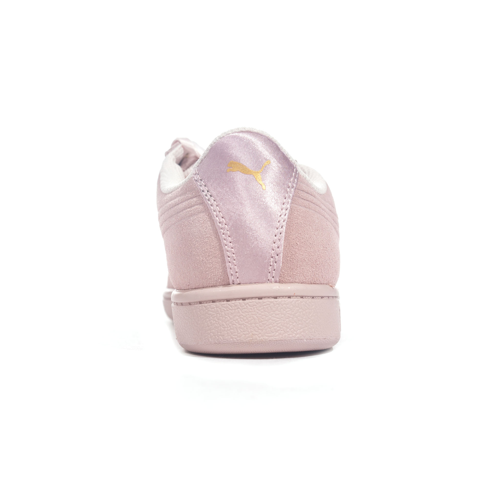 295e982c2171 Puma Vikky Ribbon Suede Womens Ladies Fashion Trainer Shoe Pearl ...