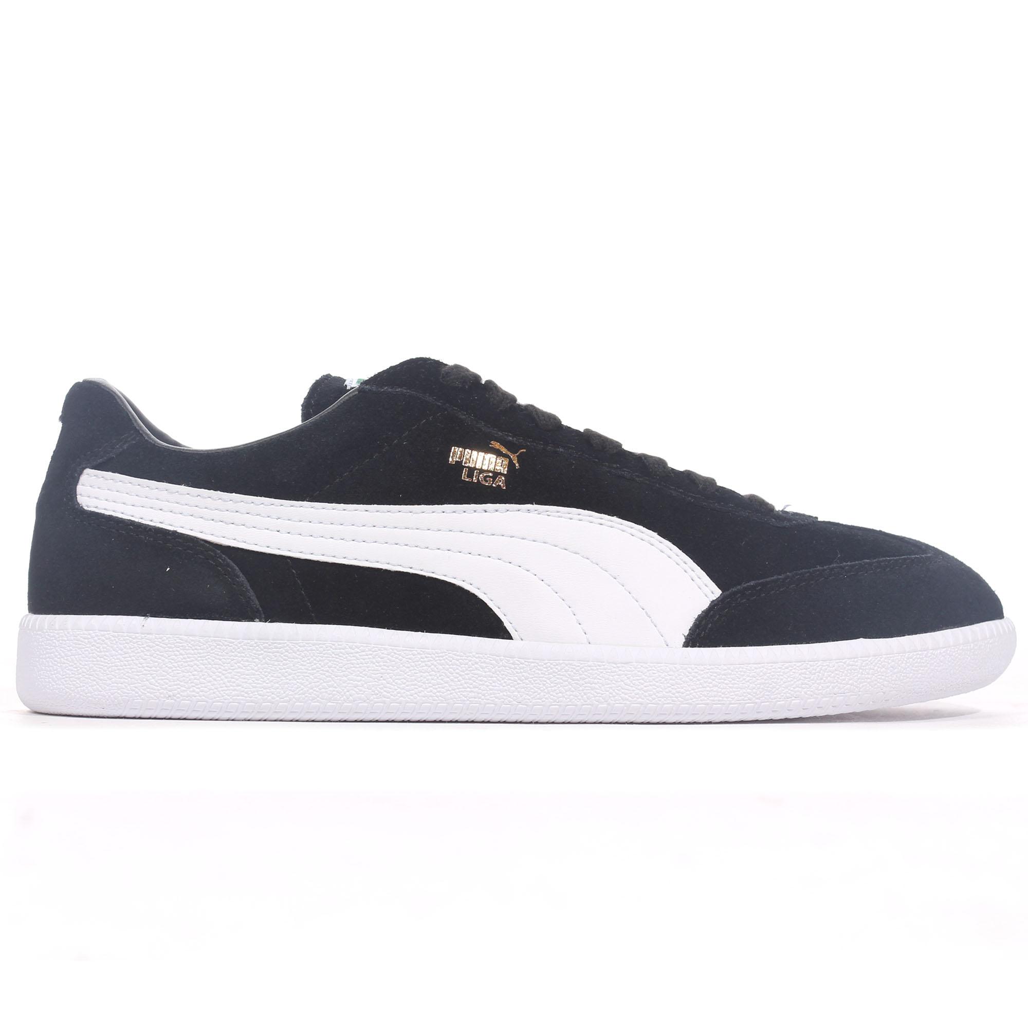 1691e3d55e3 Details about Puma Liga Suede Mens Football Terrace Fashion Trainer Shoe  Black/White