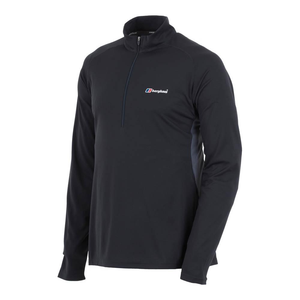 b5d1a051 Details about Berghaus Tech 1/2 Zip Mens Long Sleeve Base Outdoor T-Shirt  Black