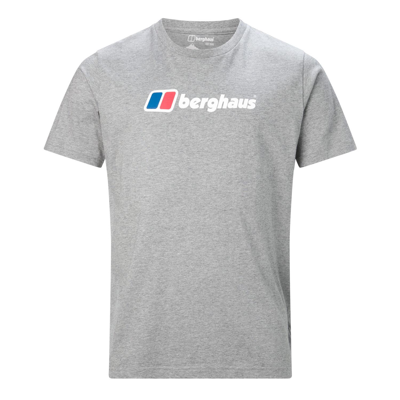 2c4e65b3 Berghaus Big Corporate Logo Mens Short Sleeve Outdoor T-Shirt Tee Grey