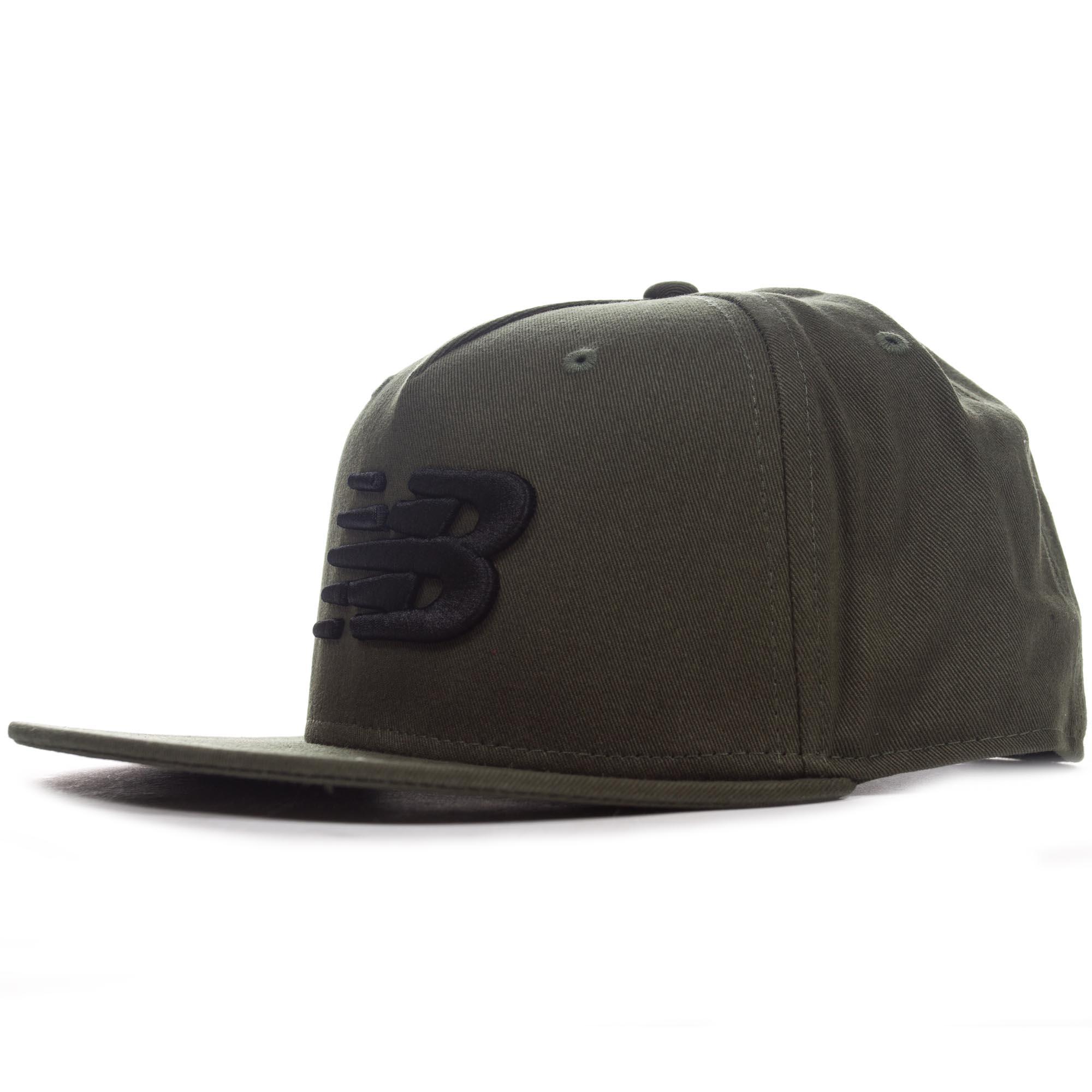 98489ce5f96 New Balance Mens 5-Panel Pro II Logo Snapback Baseball Cap Hat