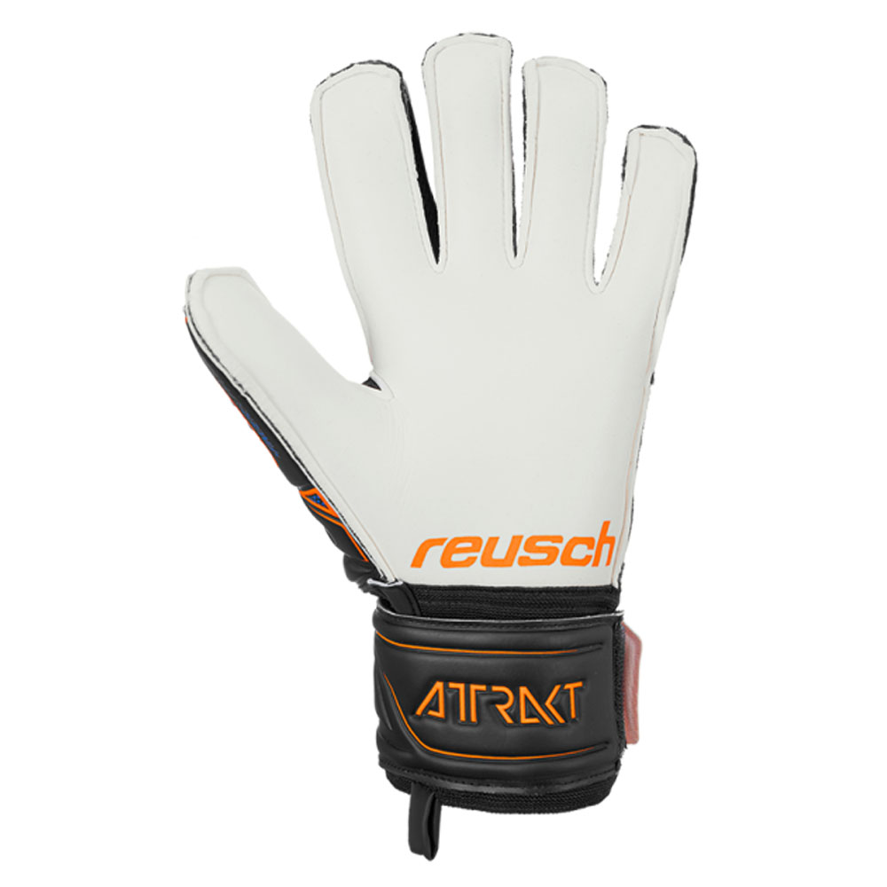 miniature 4 - Reusch-attrakt-SG-Finger-Support-Homme-Gardien-gardien-de-but-Gant-Noir-Orange