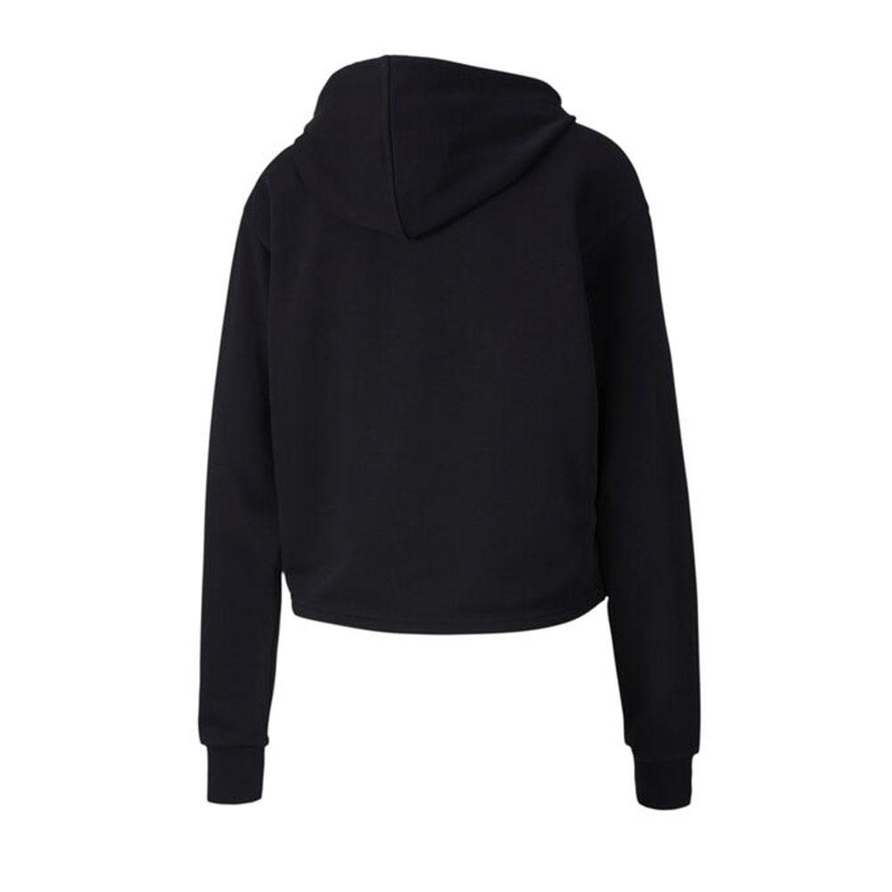 Métallique Pour Femme Femmes Sports Cropped Sweat à Capuche Veste Noir//Or Puma Essential