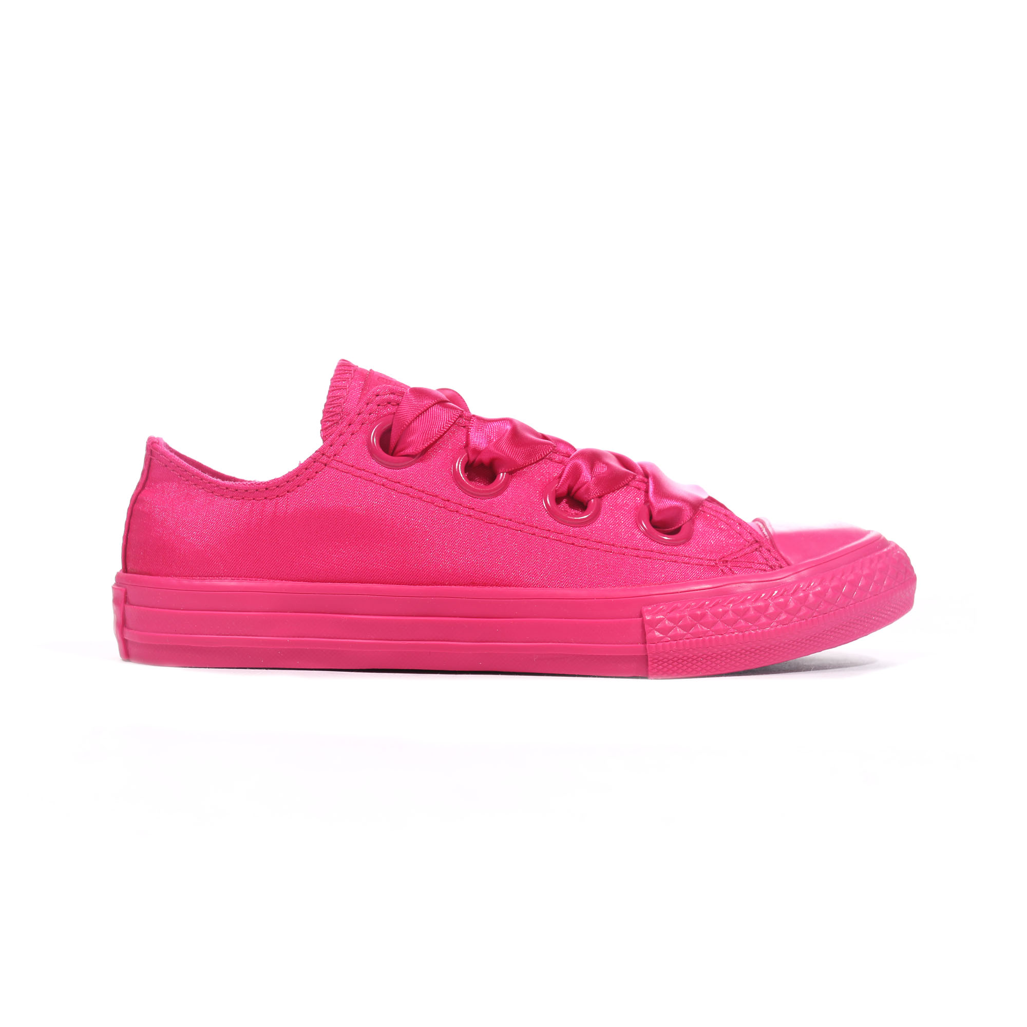 01c7691e762a Details about Converse Chuck Taylor All Star Big Eyelets Ox Junior Trainer  Pink Pop