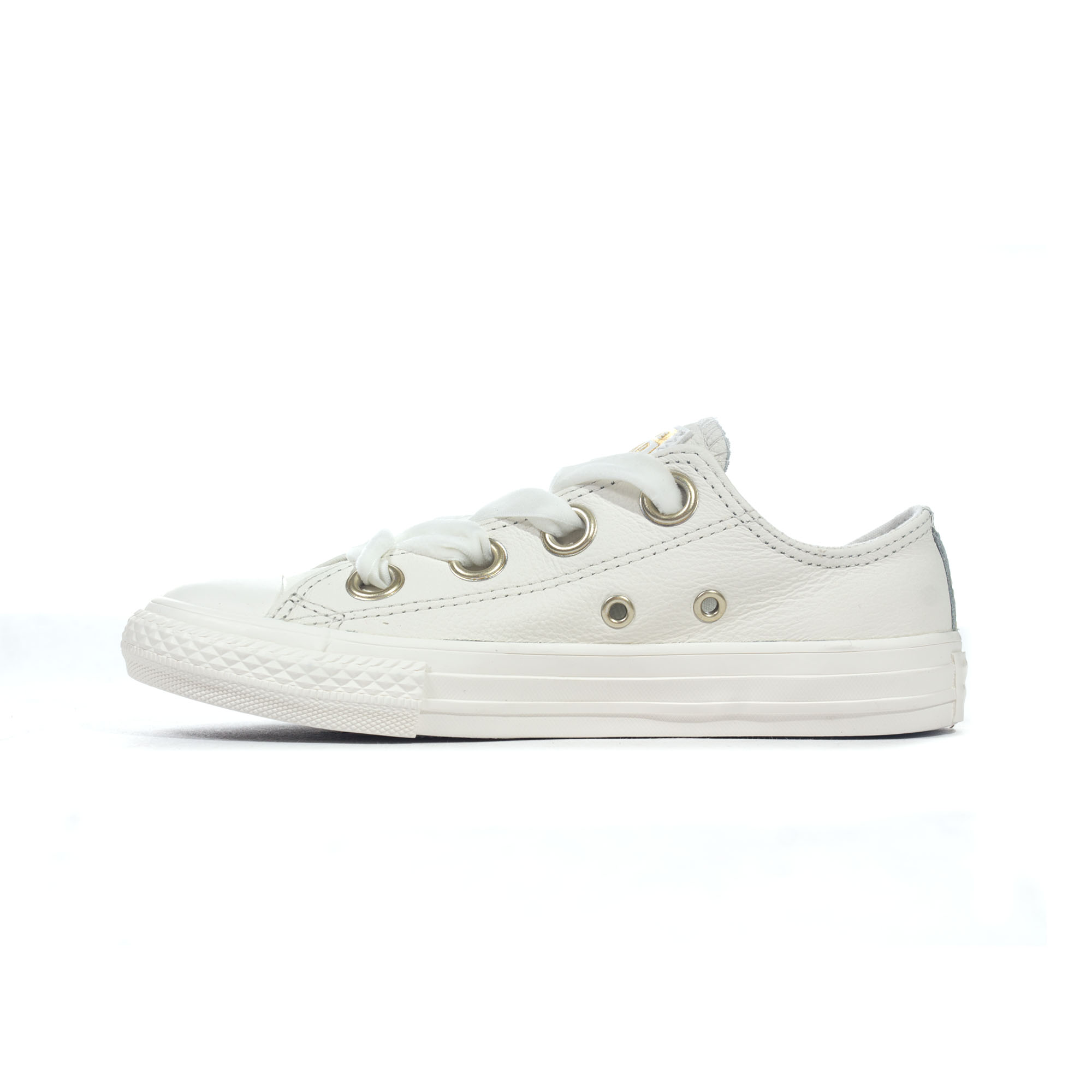 97d47c4e1538 Details about Converse Chuck Taylor All Star Big Eyelets Leather Ox Girls  Trainer Vintage Gold