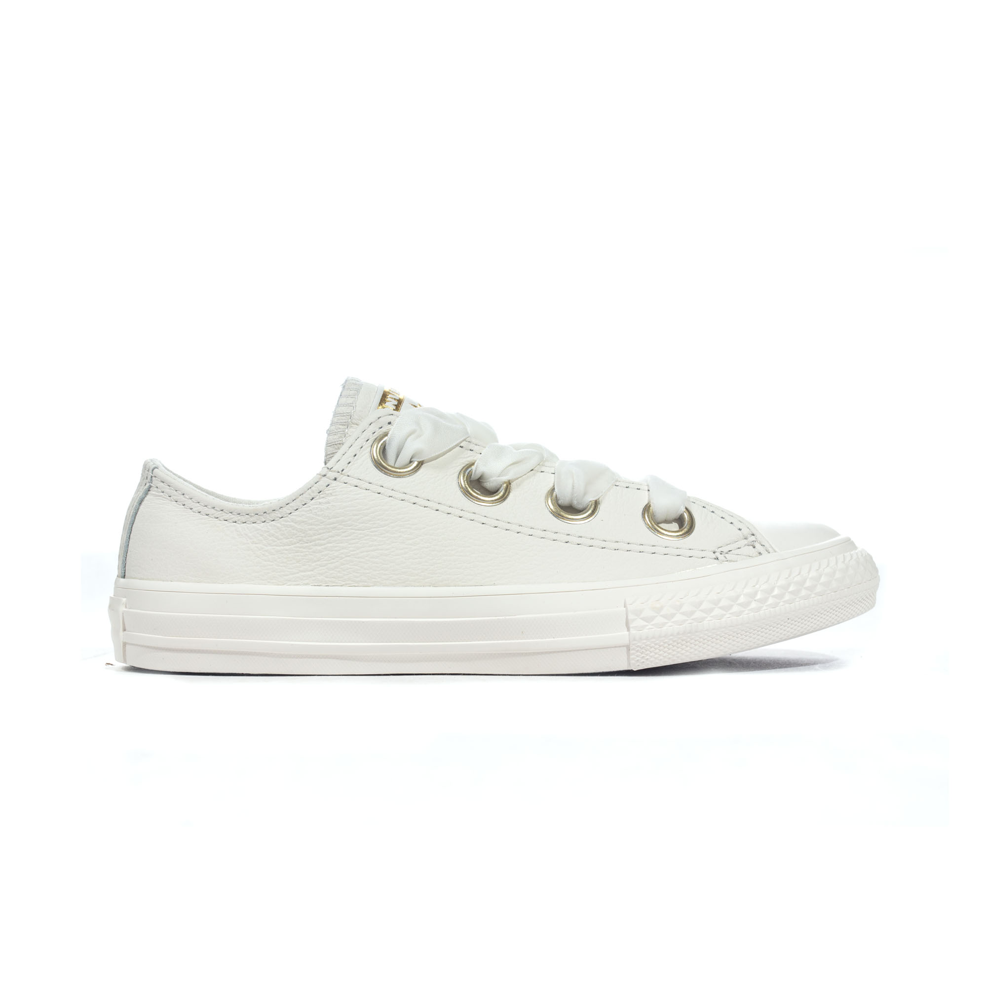 b0ffd406f2ab5d Details about Converse Chuck Taylor All Star Big Eyelets Leather Ox Girls  Trainer Vintage Gold