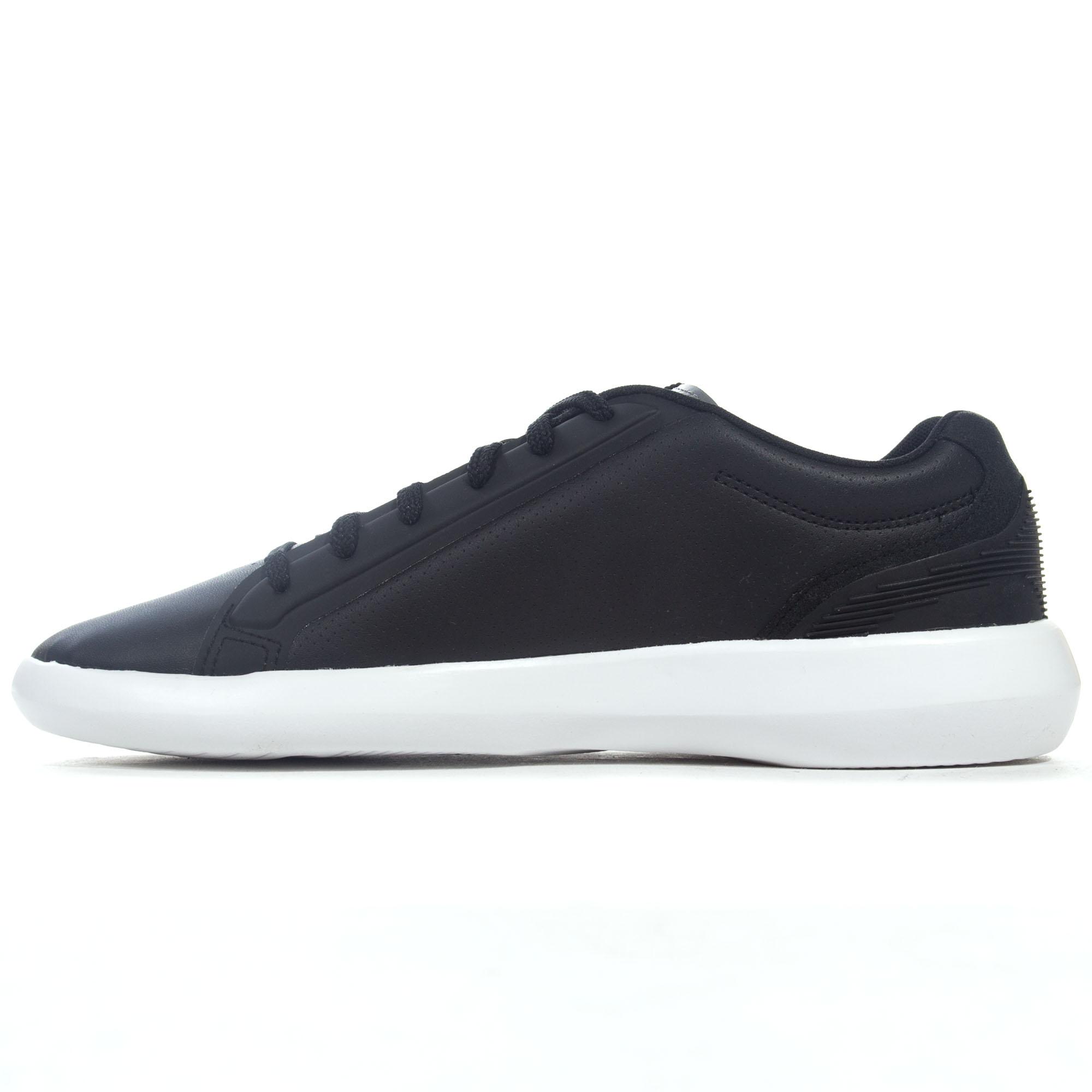 48d2fa7d3f7a99 Lacoste Avantor 318 3 SPM Mens Sports Fashion Trainer Shoe Black White