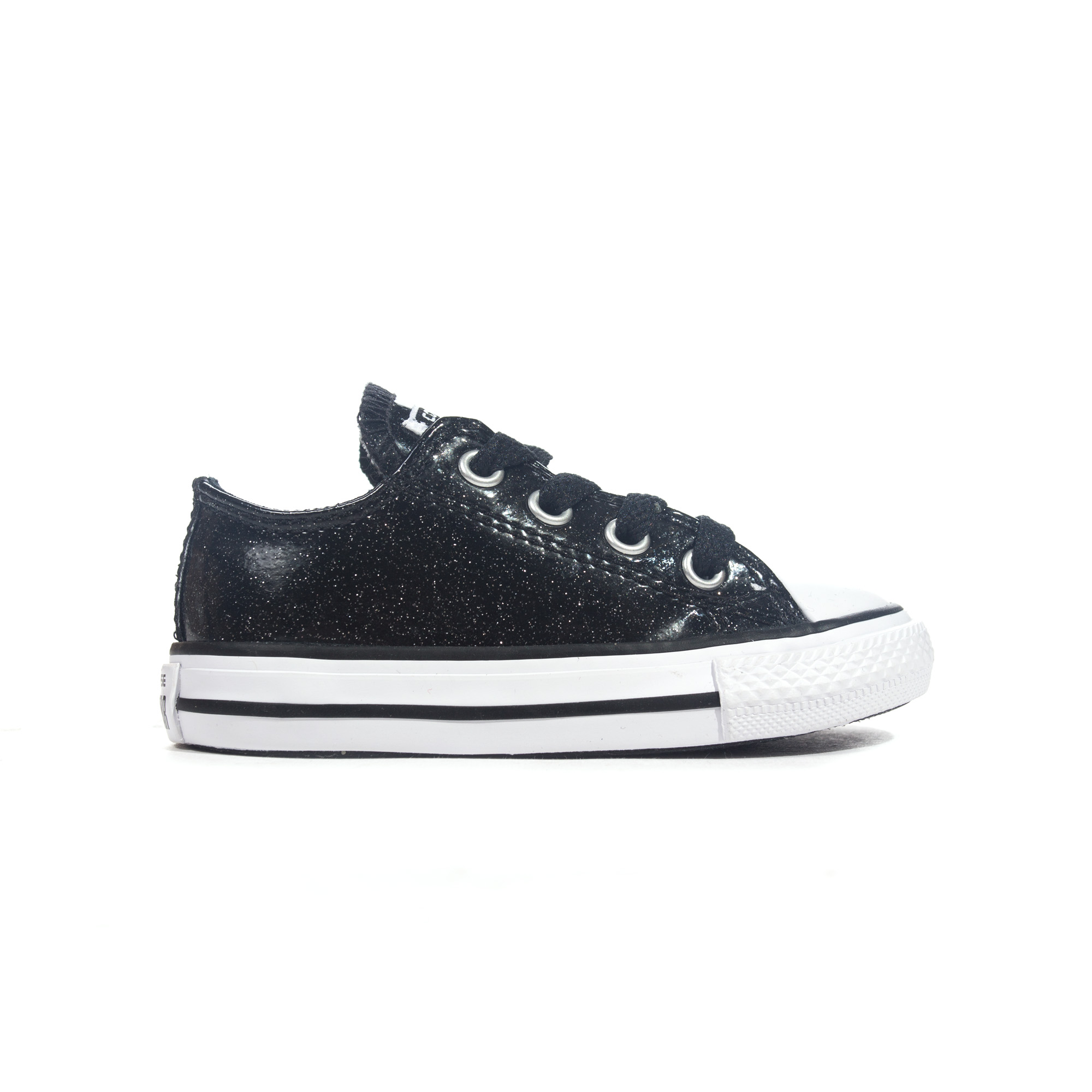 Details about Converse Chuck Taylor All Star Glitter Ox Infant Girls  Trainer Black - UK 4 5ff72da87