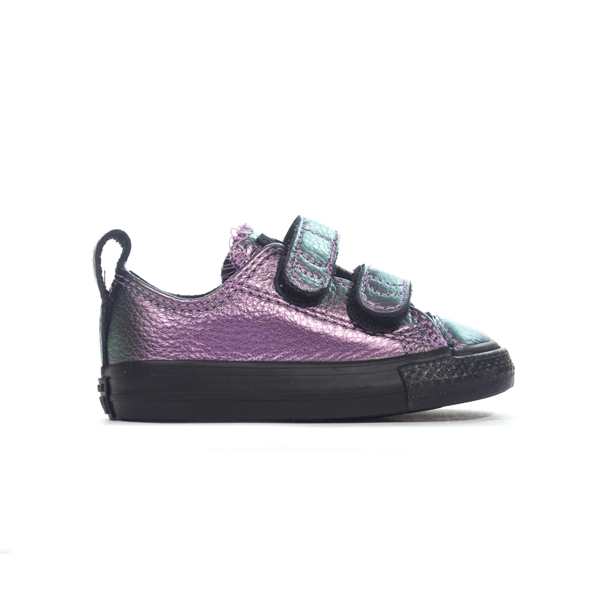 556c3afc2e22 Details about Converse All Star 2V Irridescent Ox Infant Girls Trainer  Purple - UK 4