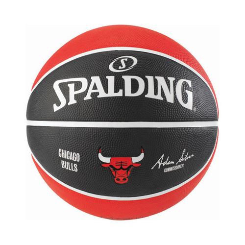 Spalding Chicago Bulls NBA Team Basketball Red Black - Size 7  03c9404564b0