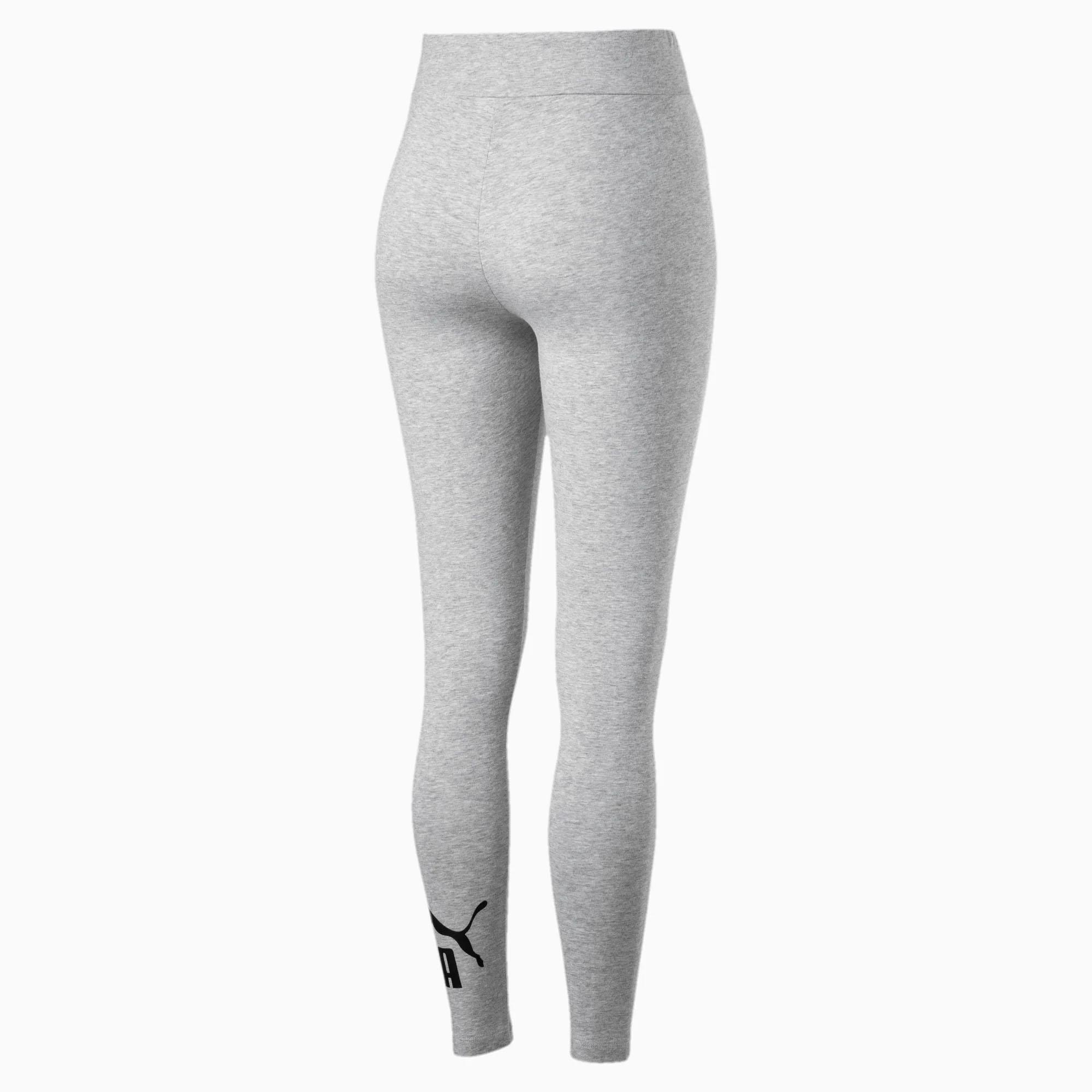 Puma-Essential-No-1-Logo-Womens-Ladies-Sports-Fitness-Legging-Grey thumbnail 4