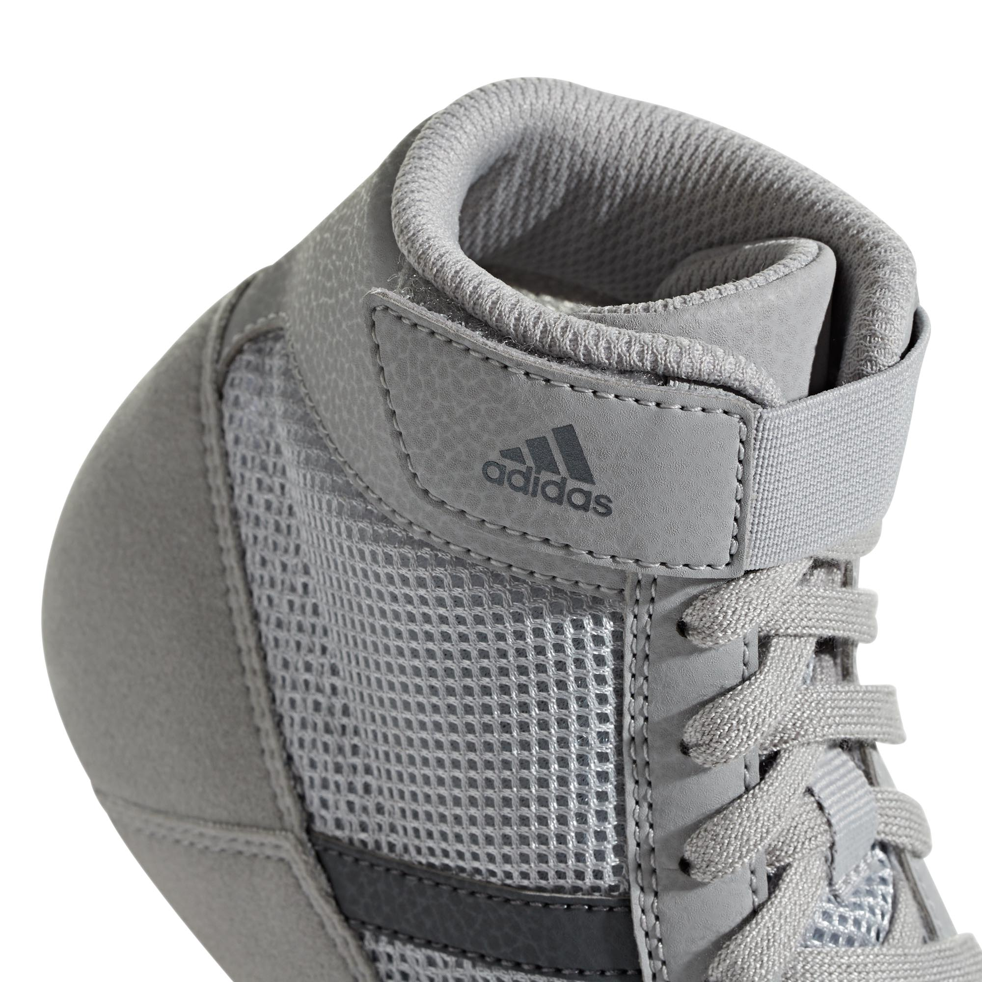 miniature 8 - Adidas-Havoc-Enfants-Junior-Wrestling-Trainer-Shoe-Boot-Gris