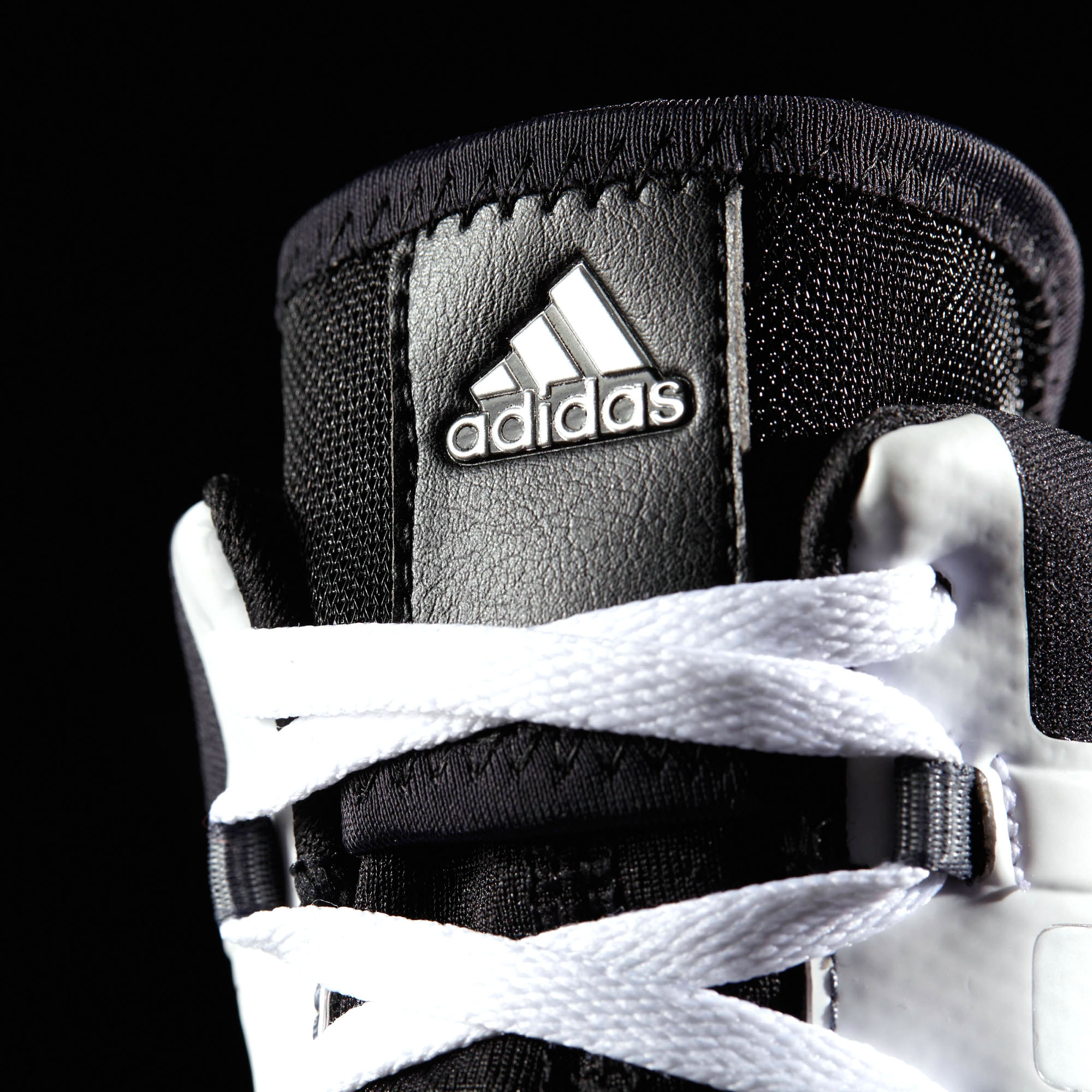 miniature 8 - Adidas-Flying-impact-wrestling-Trainer-Shoe-Boot-Noir-Blanc
