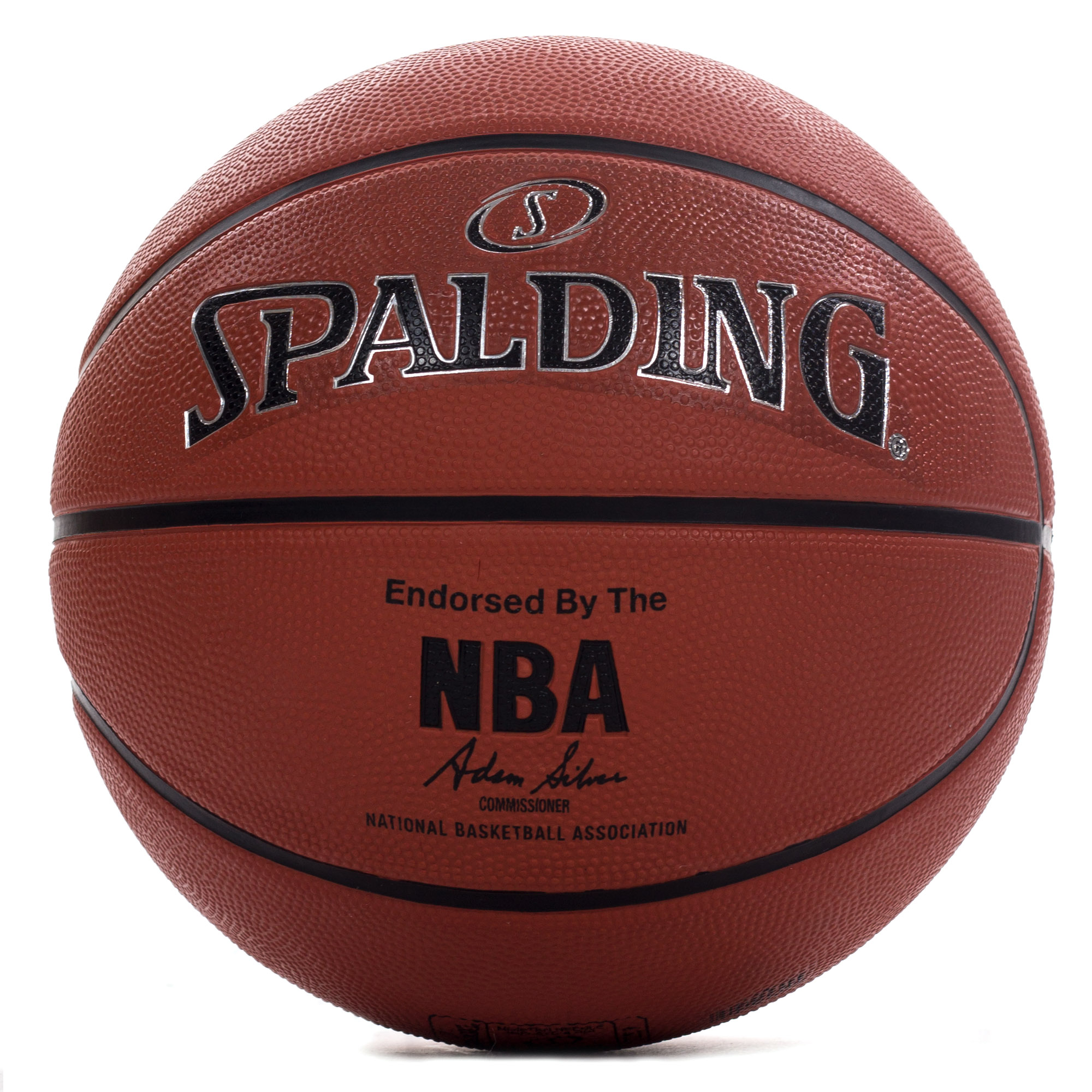 Spalding nba silver copmposite leather outdoor basketball brown 7 ebay - Spalding basketball images ...