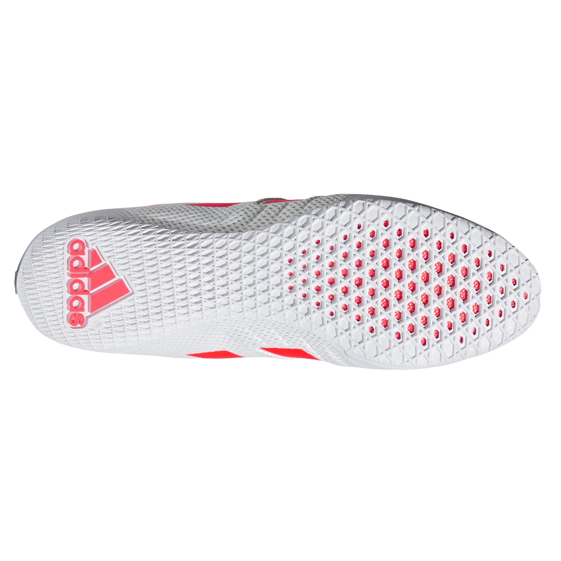 miniature 7 - Adidas speedex 18 Homme Adulte Boxe Trainer Shoe Boot Blanc/Rouge