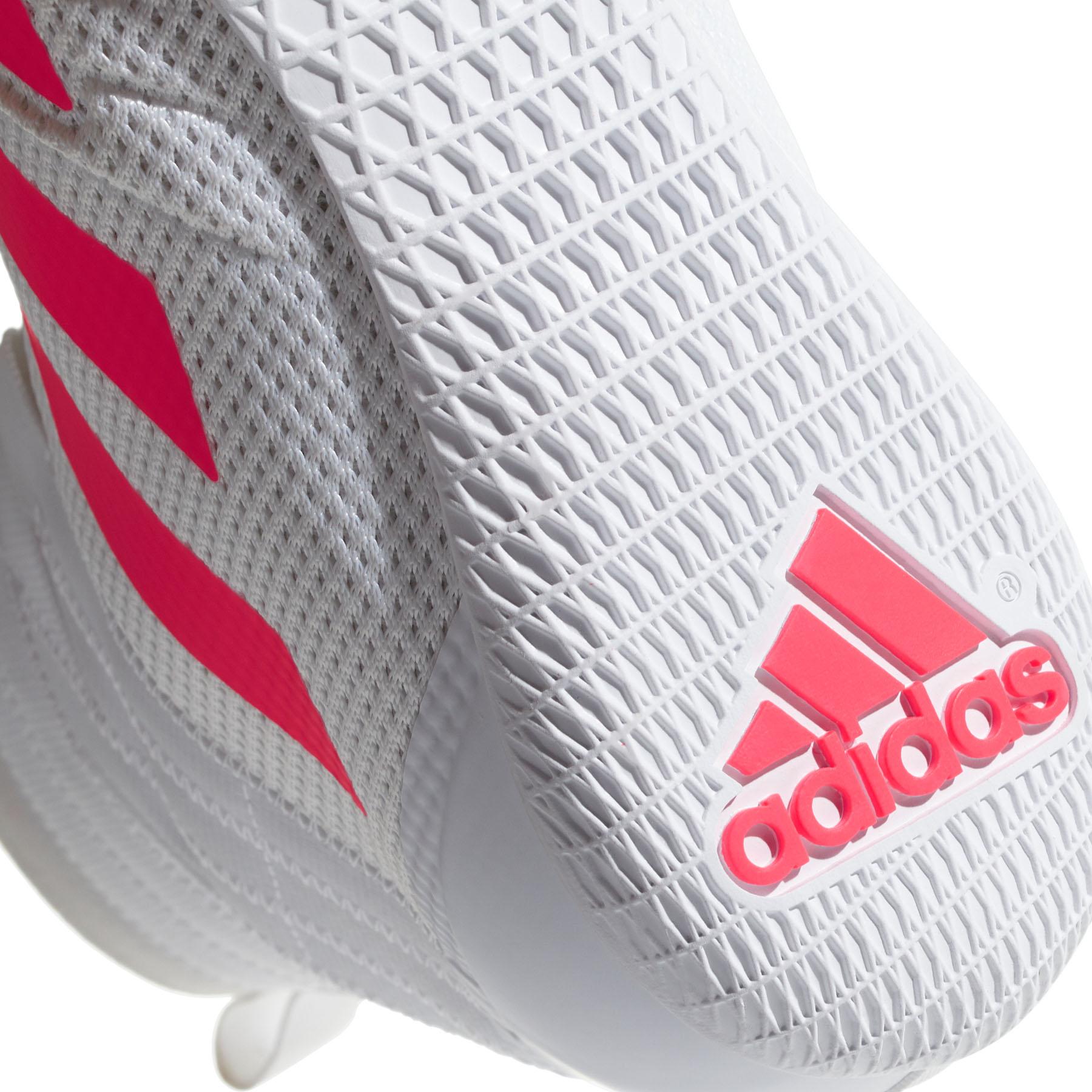 miniature 8 - Adidas speedex 18 Homme Adulte Boxe Trainer Shoe Boot Blanc/Rouge