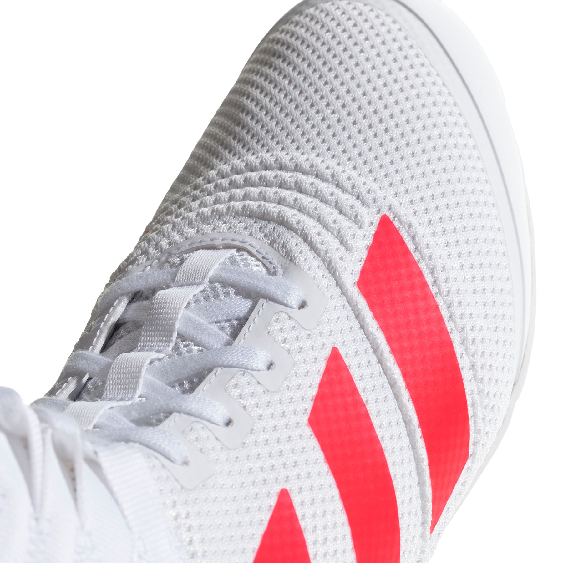 miniature 9 - Adidas speedex 18 Homme Adulte Boxe Trainer Shoe Boot Blanc/Rouge