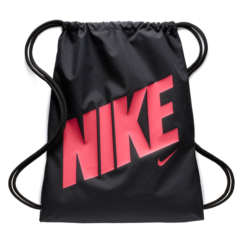 8b434dfd546c Nike Graphic Kids Gymsack Shoulder Bag Black Pink 887231653607