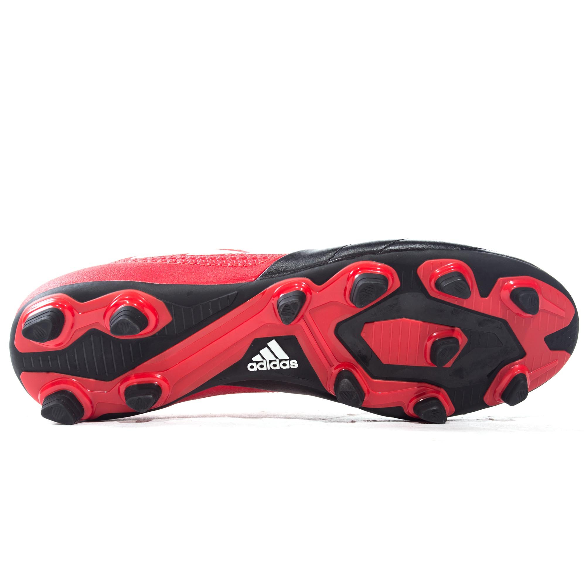 ADIDAS-ACE-17-4-FG-Firm-Ground-pour-homme-Football-Boot-Noir-Rouge miniature 7