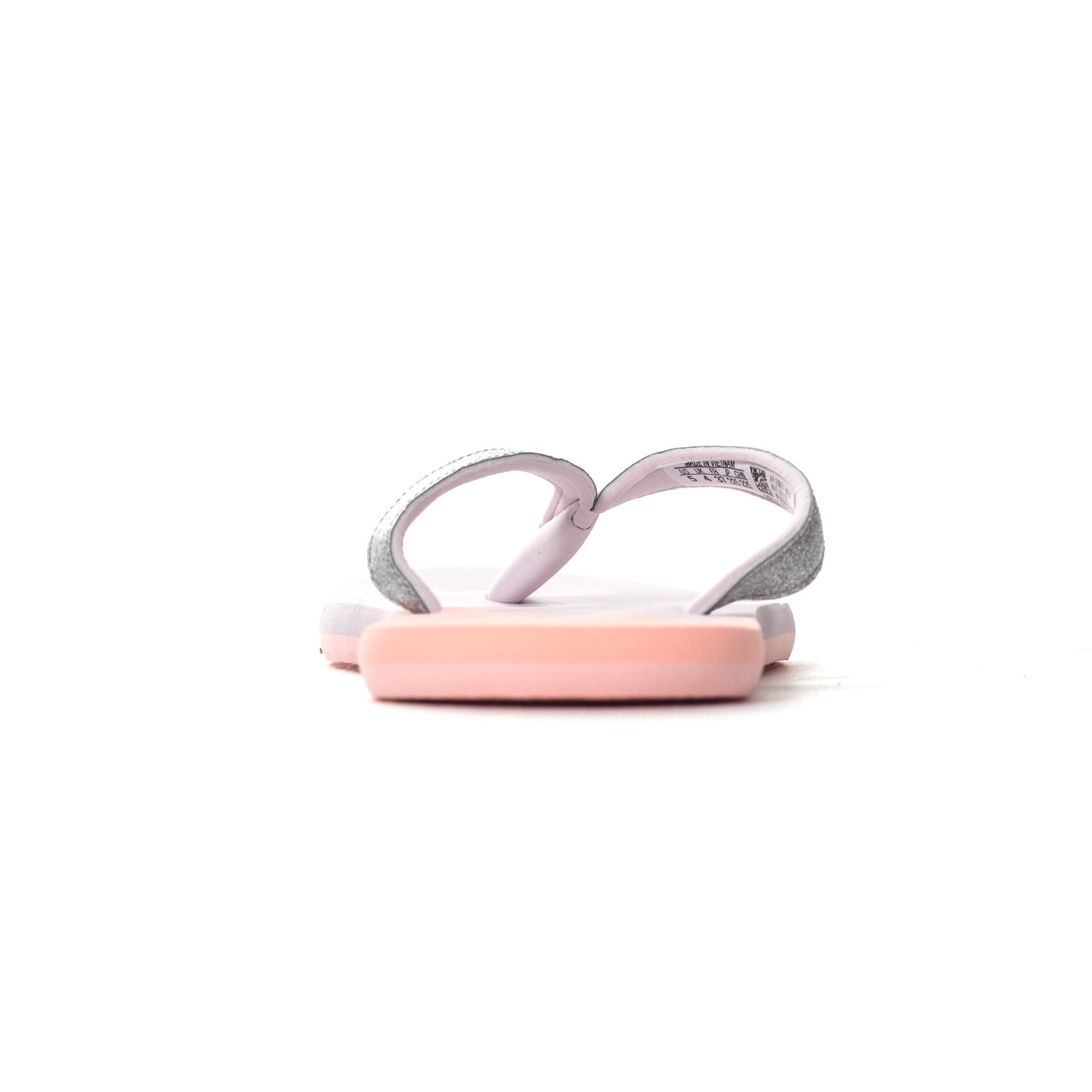 newest 16eff d9e46 adidas Eezay Glitter Womens Thong Sandal Flip Flop Pink