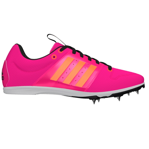 finest selection 0da16 2e60a Image is loading adidas-Allroundstar-Girls-Running-Spike-Trainer-Shoe-Pink