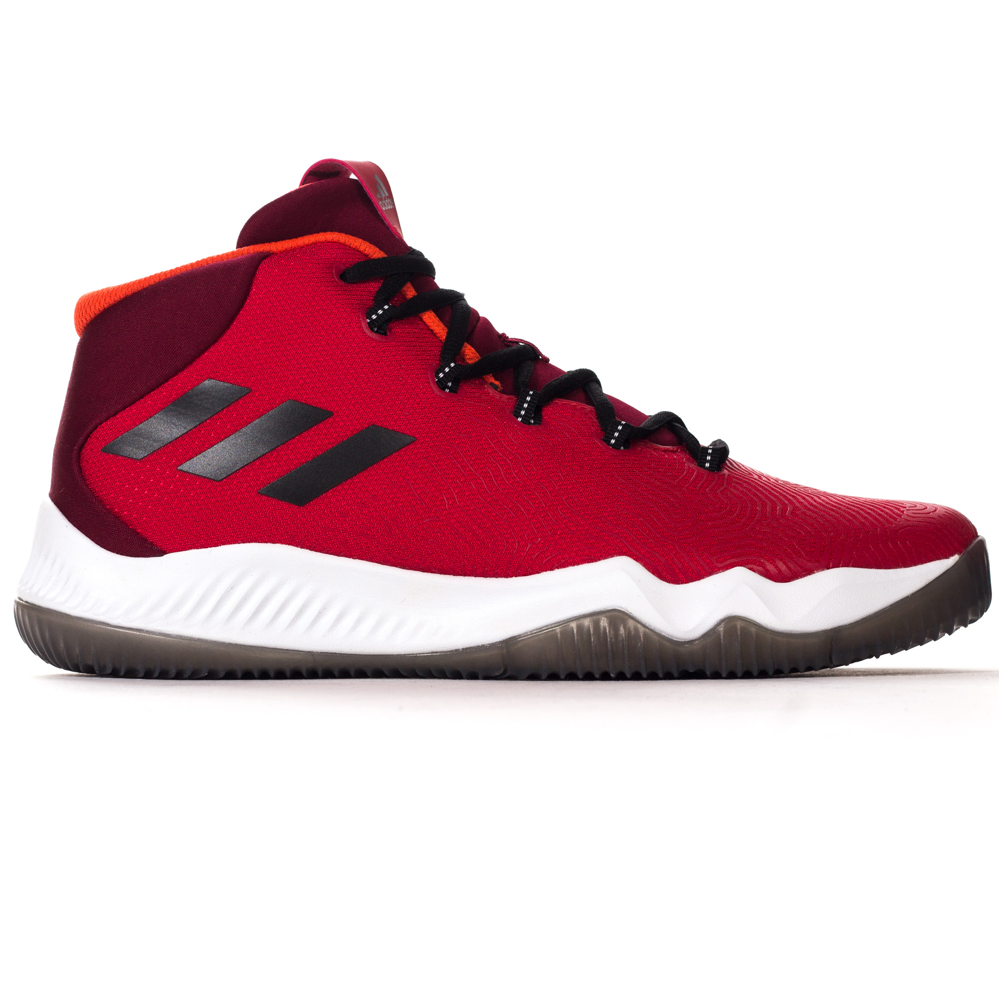 9ac6ce8b187ec9 ... sale uk 01f74 caf87 adidas Crazy Hustle Mens Basketball Court Trainer  Shoe Red ...